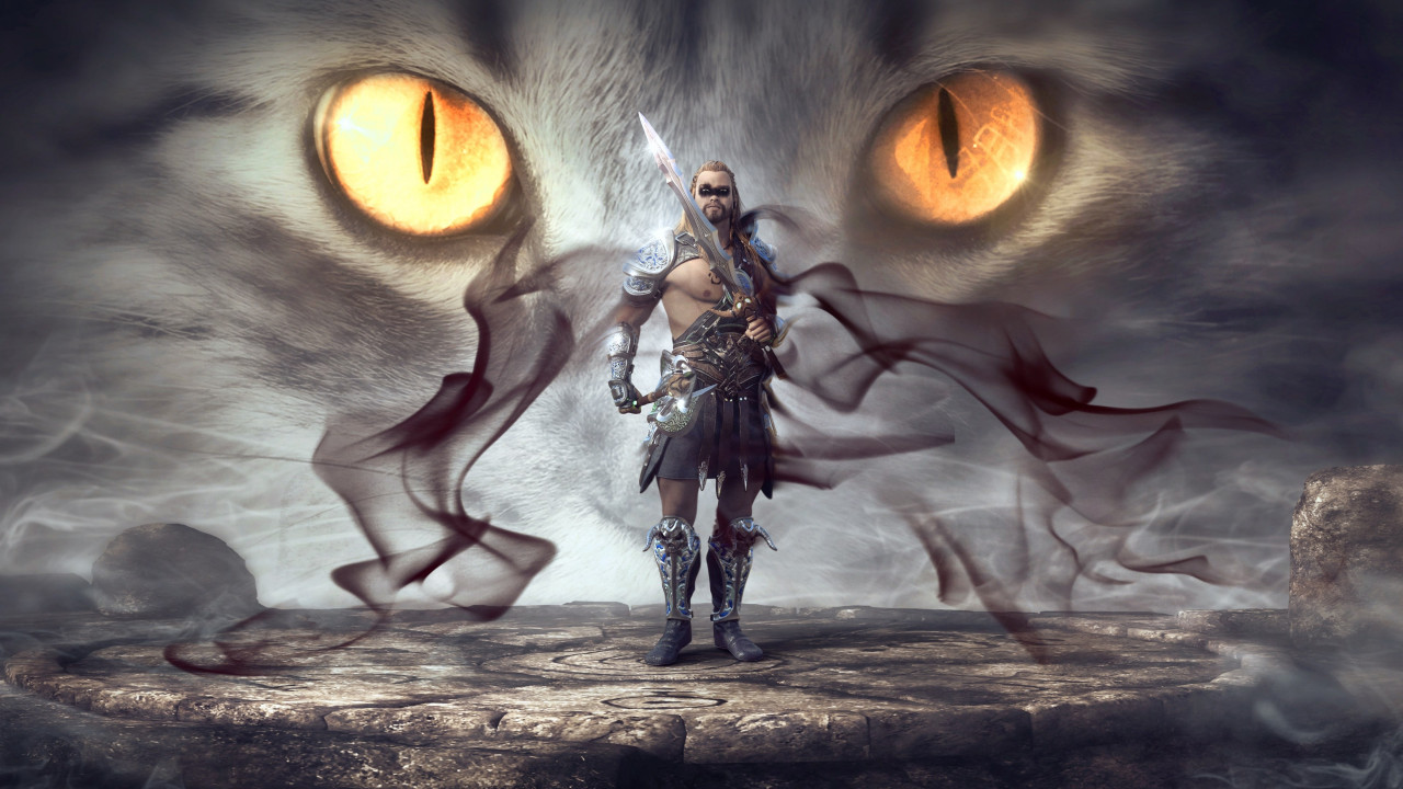 Mystical warrior wallpaper 1280x720
