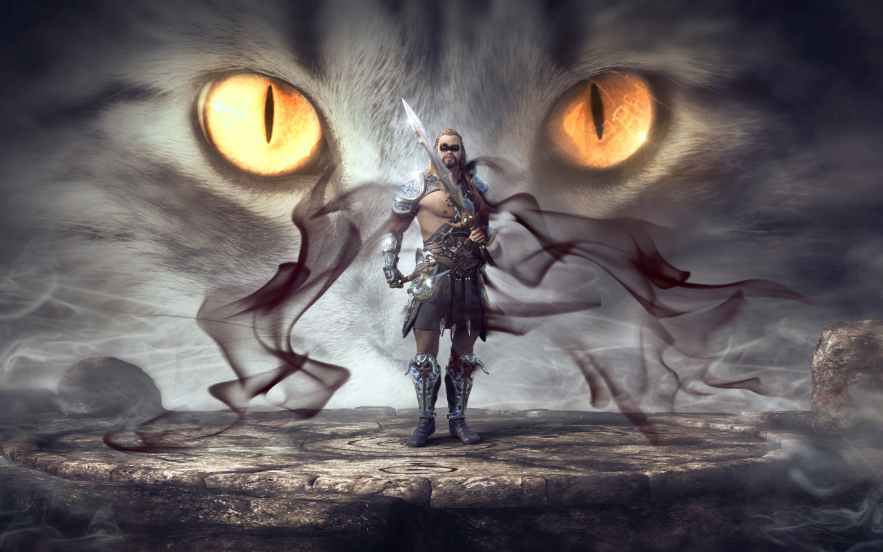 Mystical warrior wallpaper 1280x800