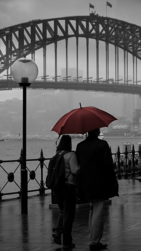 People visiting Circular Quay, Sydney wallpaper 480x854