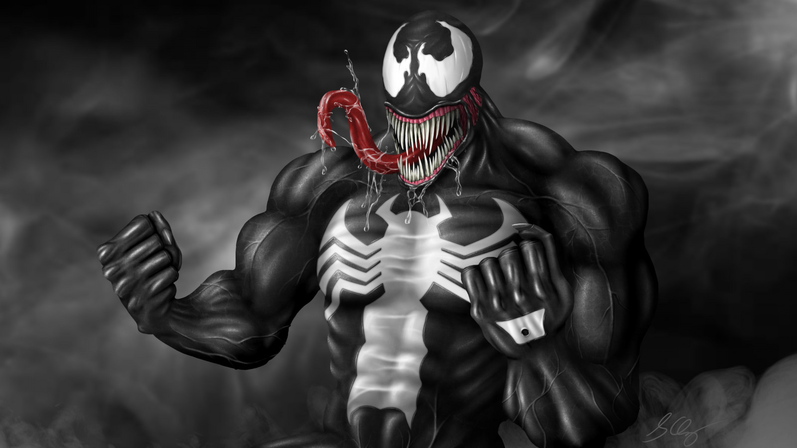 Venom fan art wallpaper 1600x900