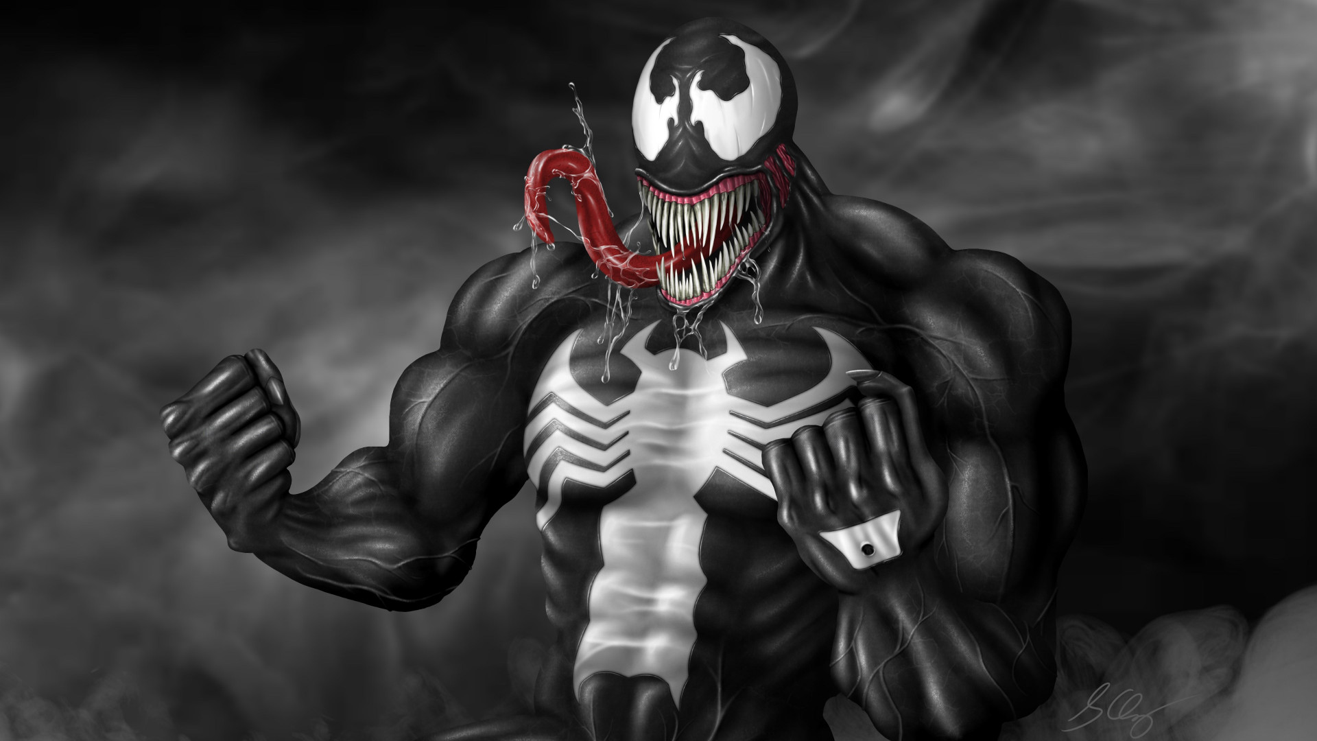 Venom fan art wallpaper 1920x1080