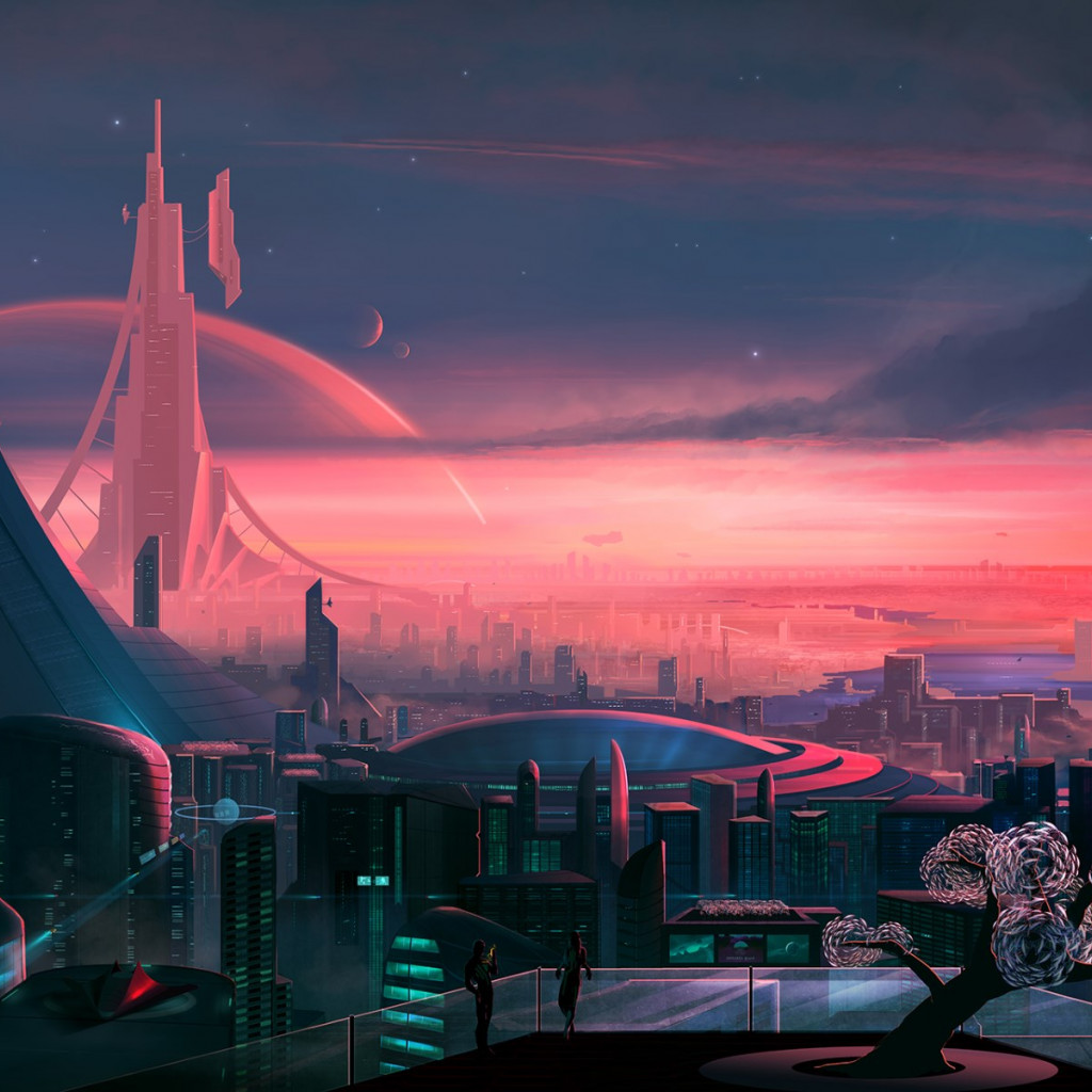 Antares. The metropolis of the future wallpaper 1024x1024