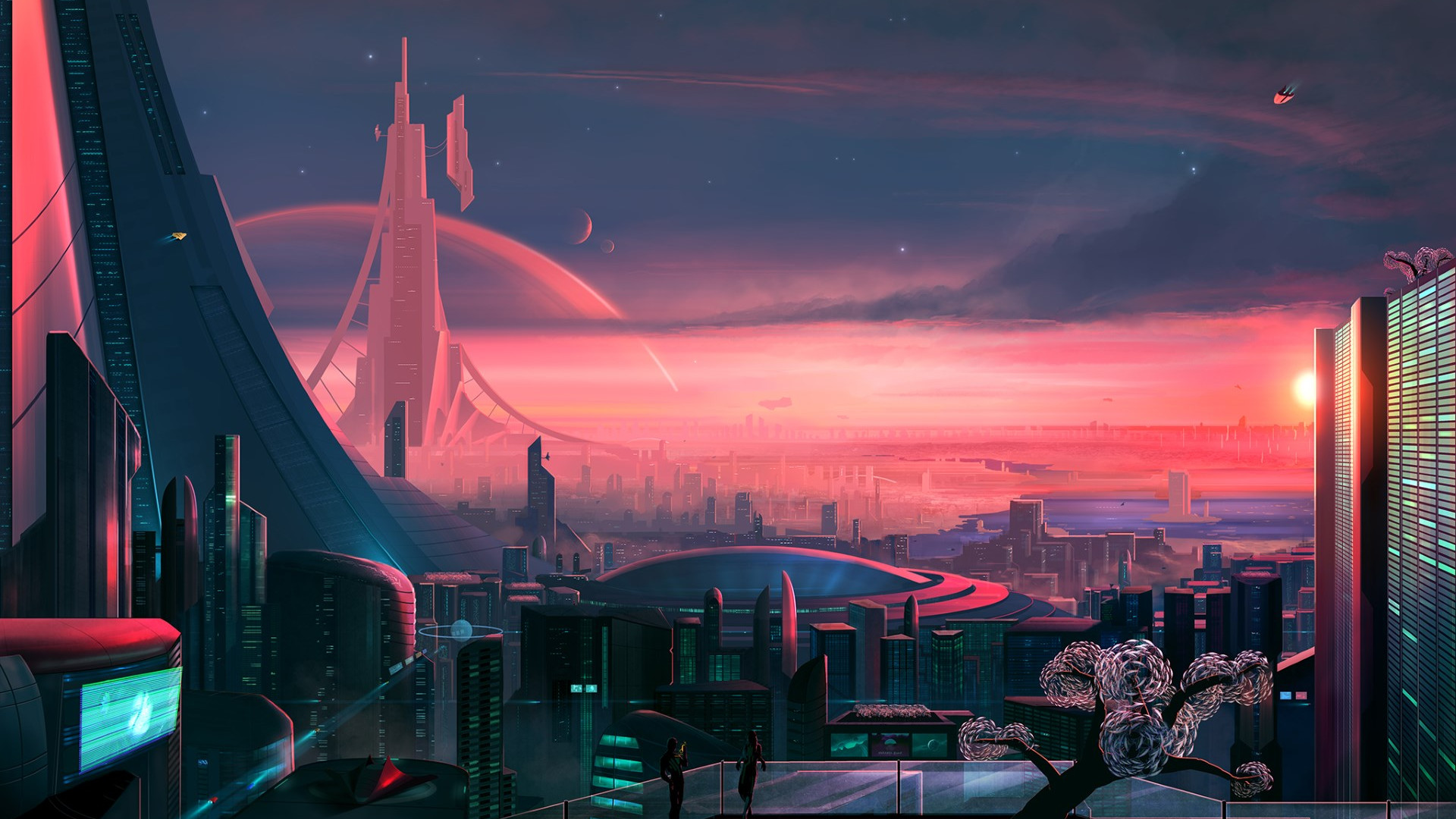 Antares. The metropolis of the future | 1920x1080 wallpaper