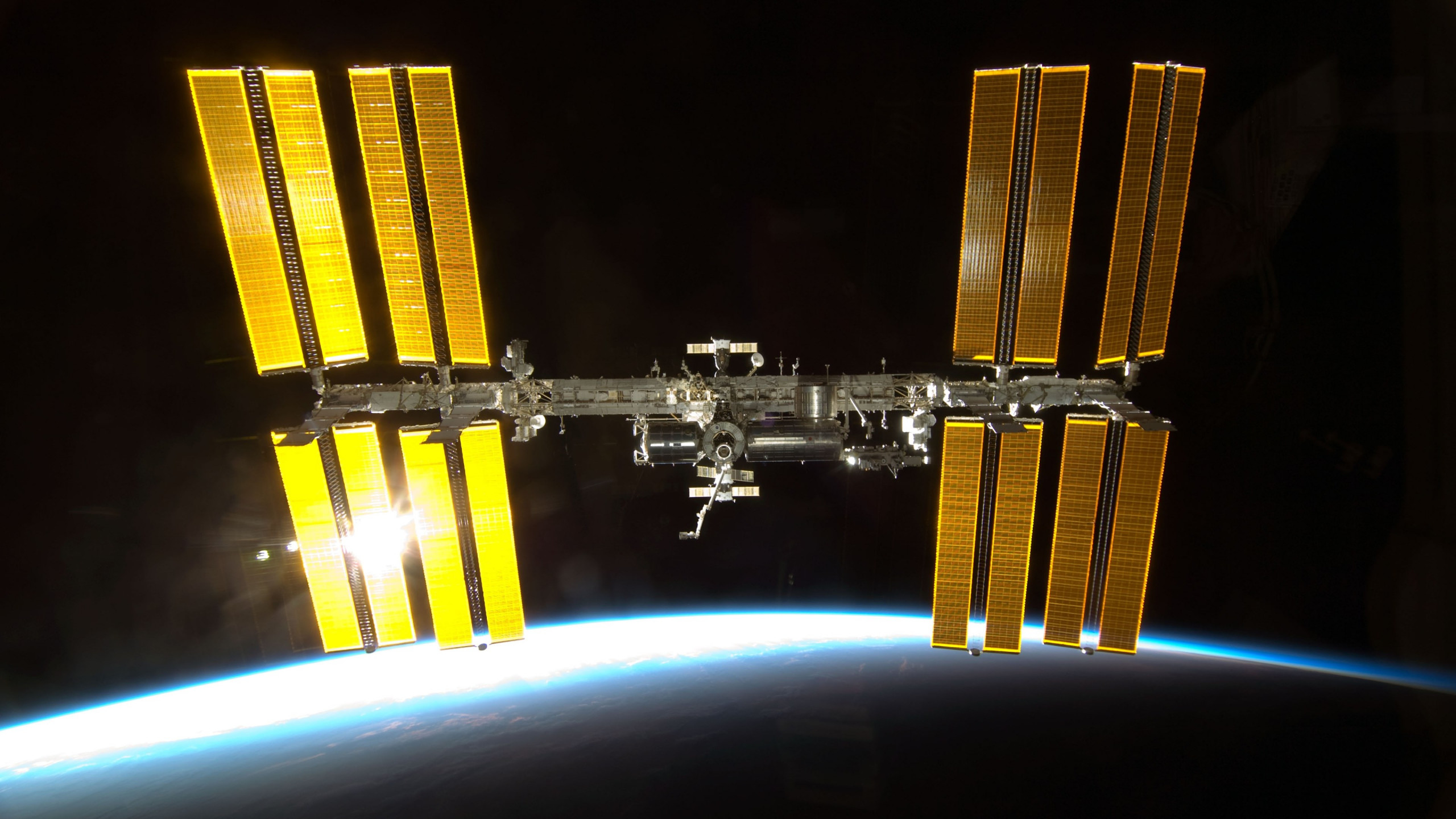 International Space Station wallpaper 2560x1440