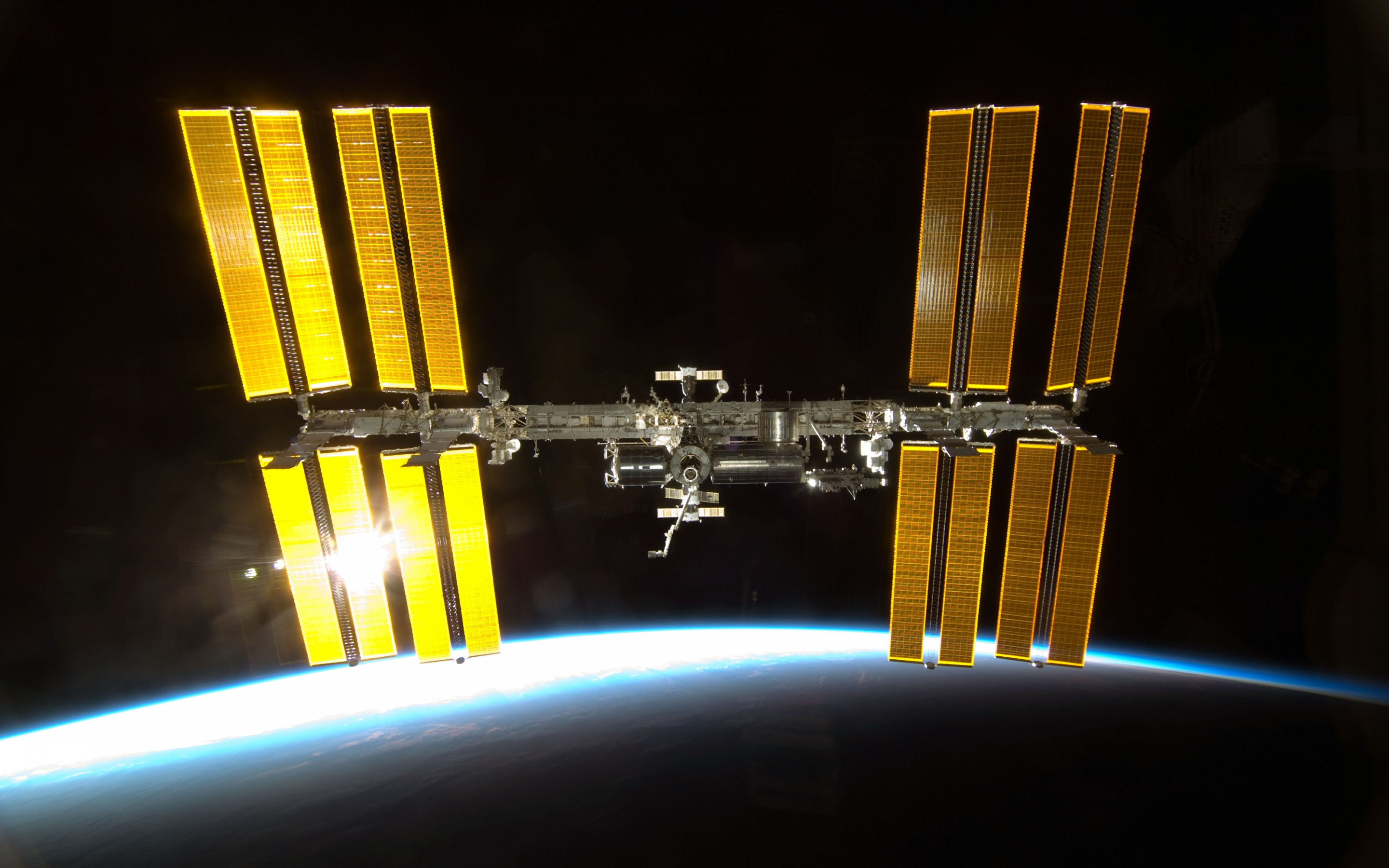 International Space Station wallpaper 2880x1800