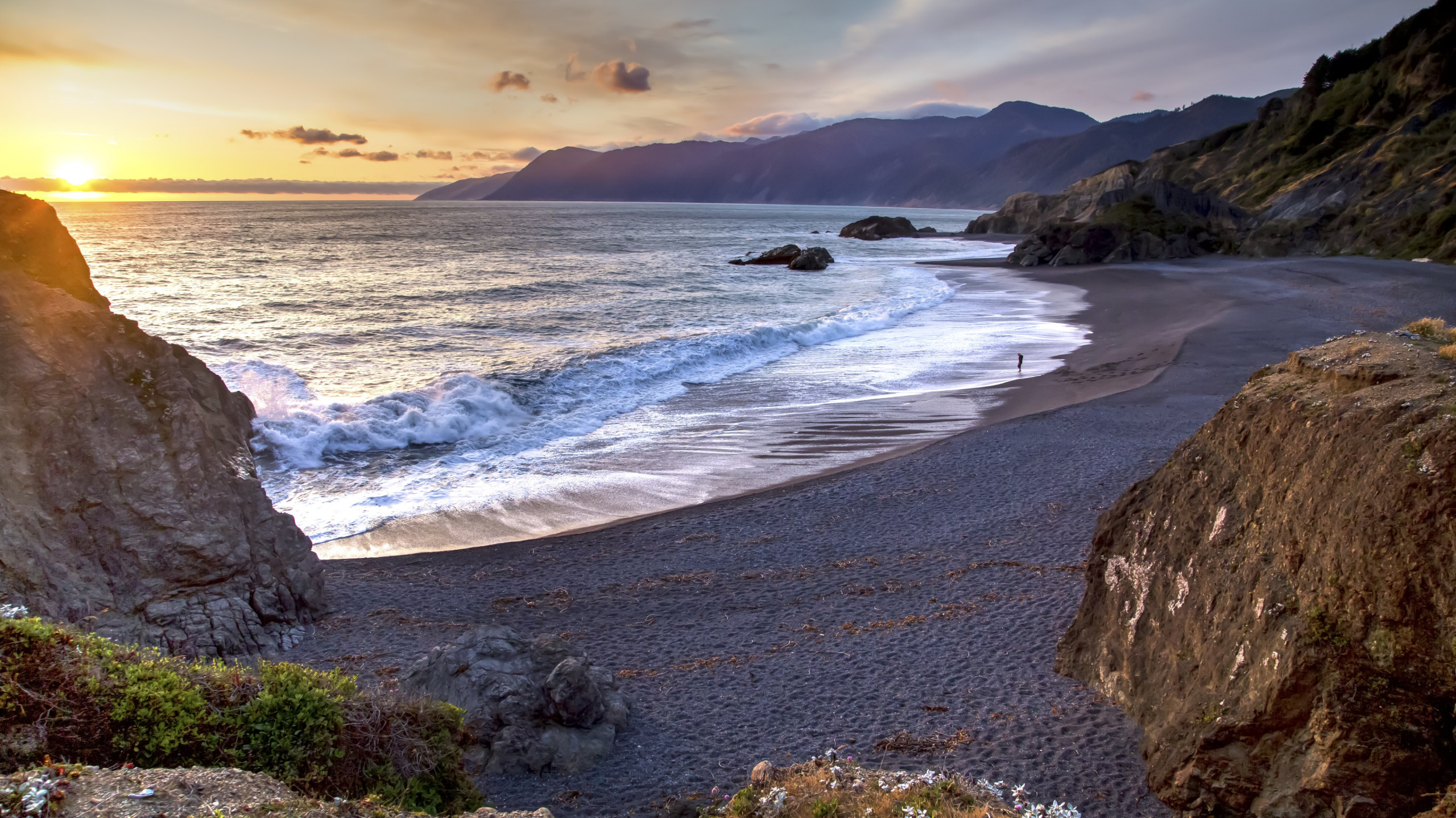 View from Humboldt Coast wallpaper 2560x1440