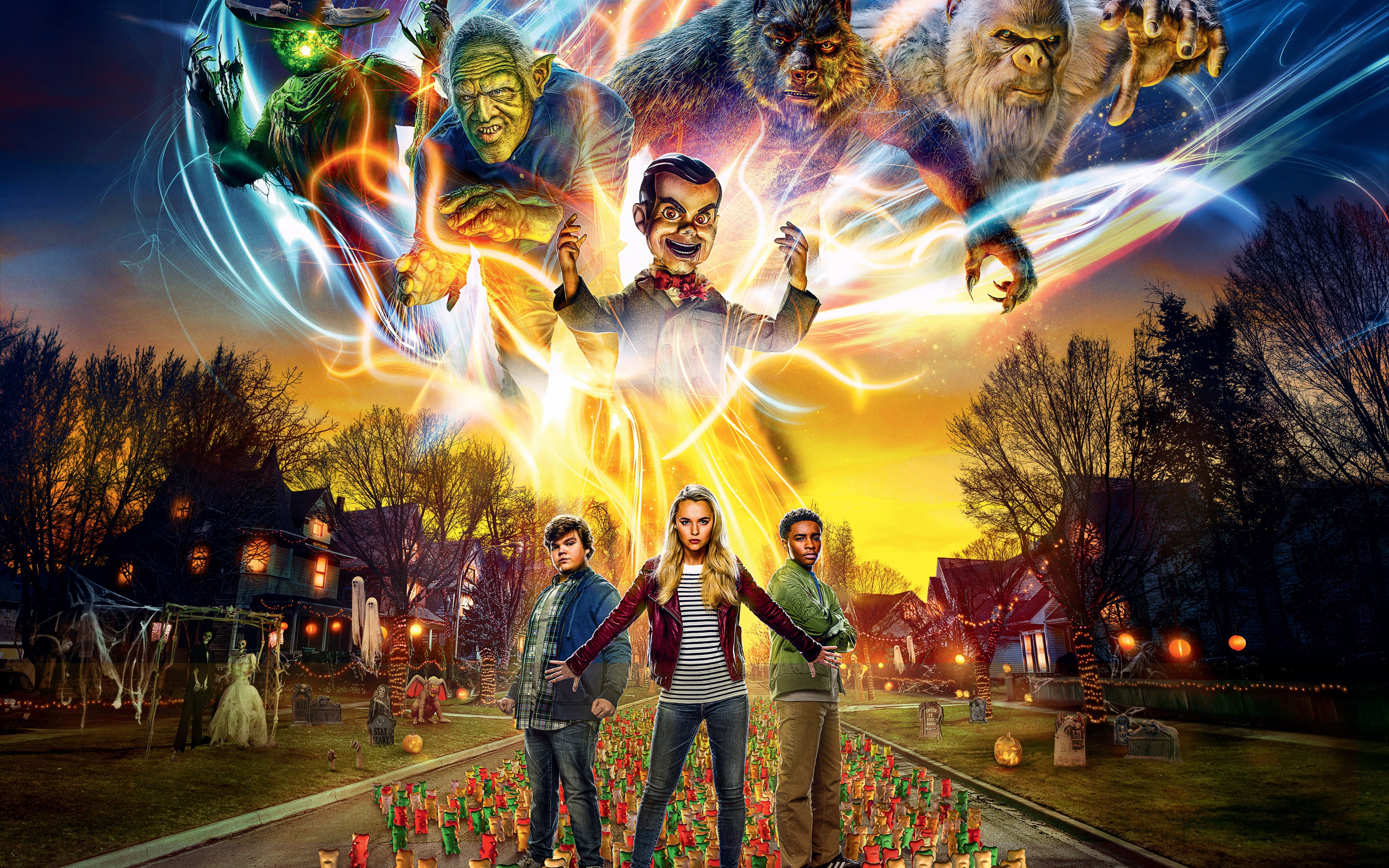 Goosebumps 2: Haunted Halloween wallpaper 3840x2400
