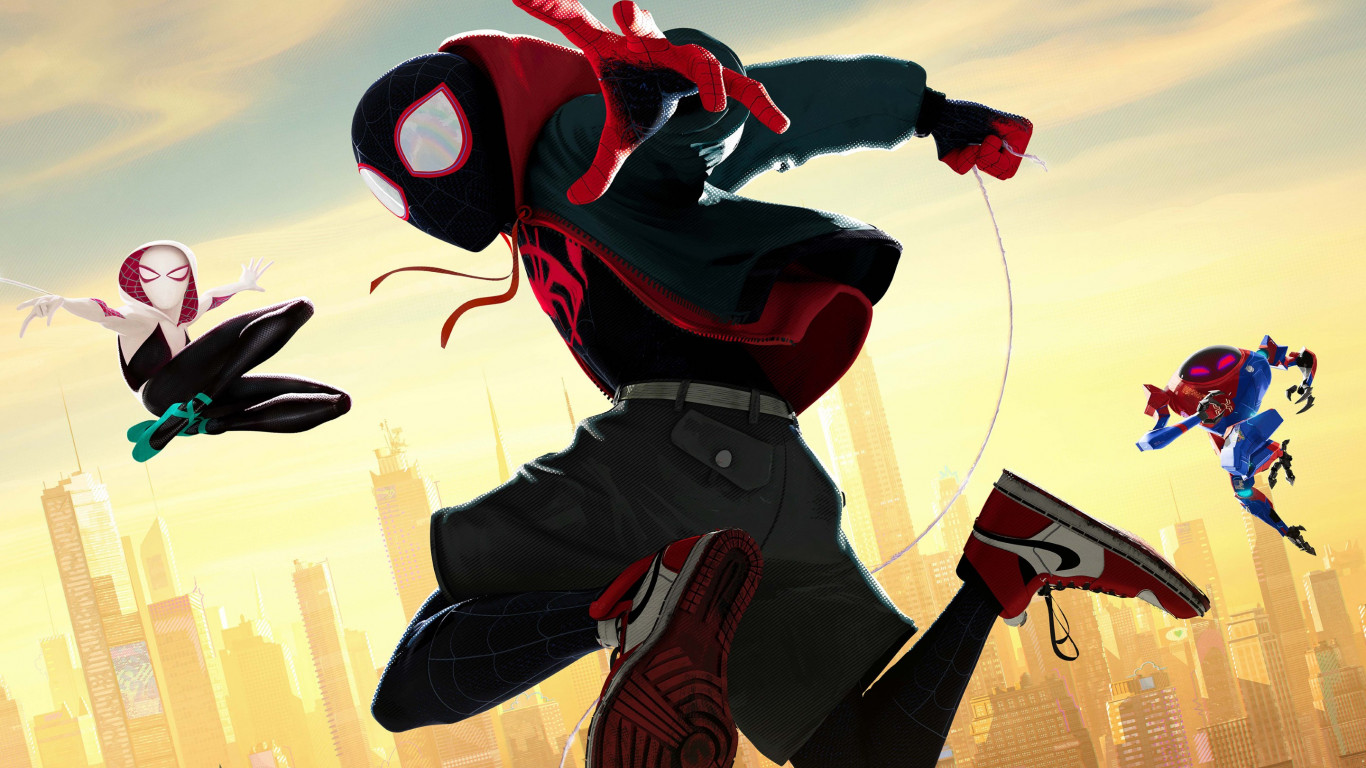 Spider Man: Into the Spider Verse wallpaper 1366x768