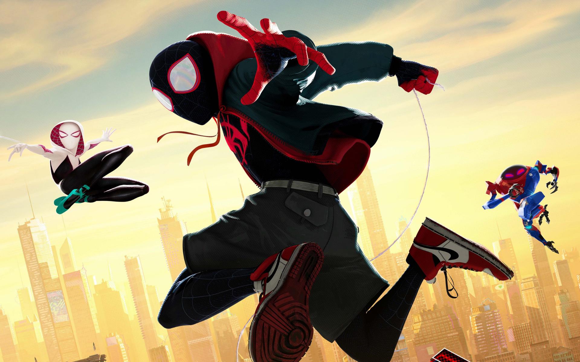 Download Wallpaper Spider Man Into The Spider Verse 1920x1200