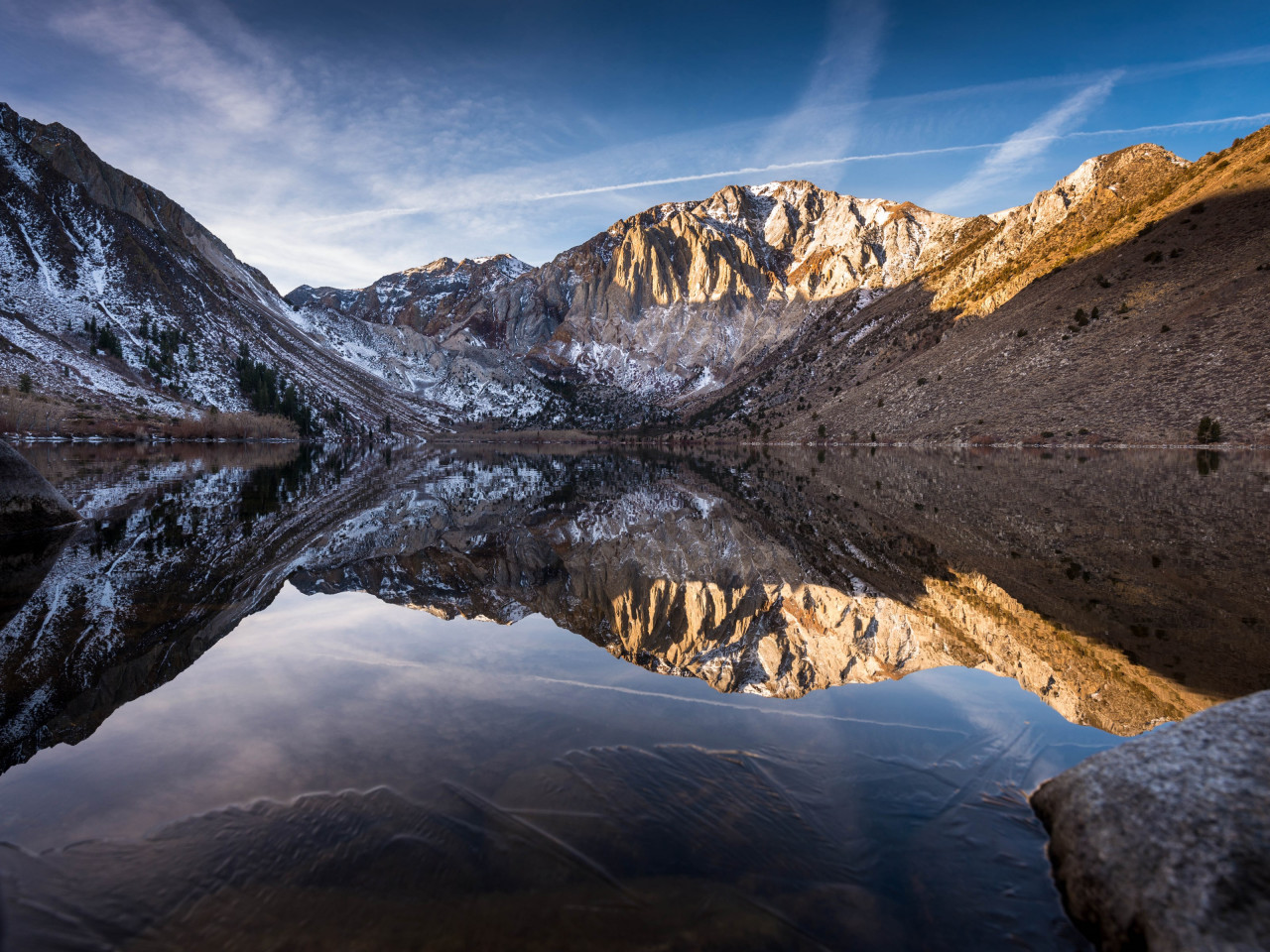 Convict lake began to freeze | 1280x960 wallpaper