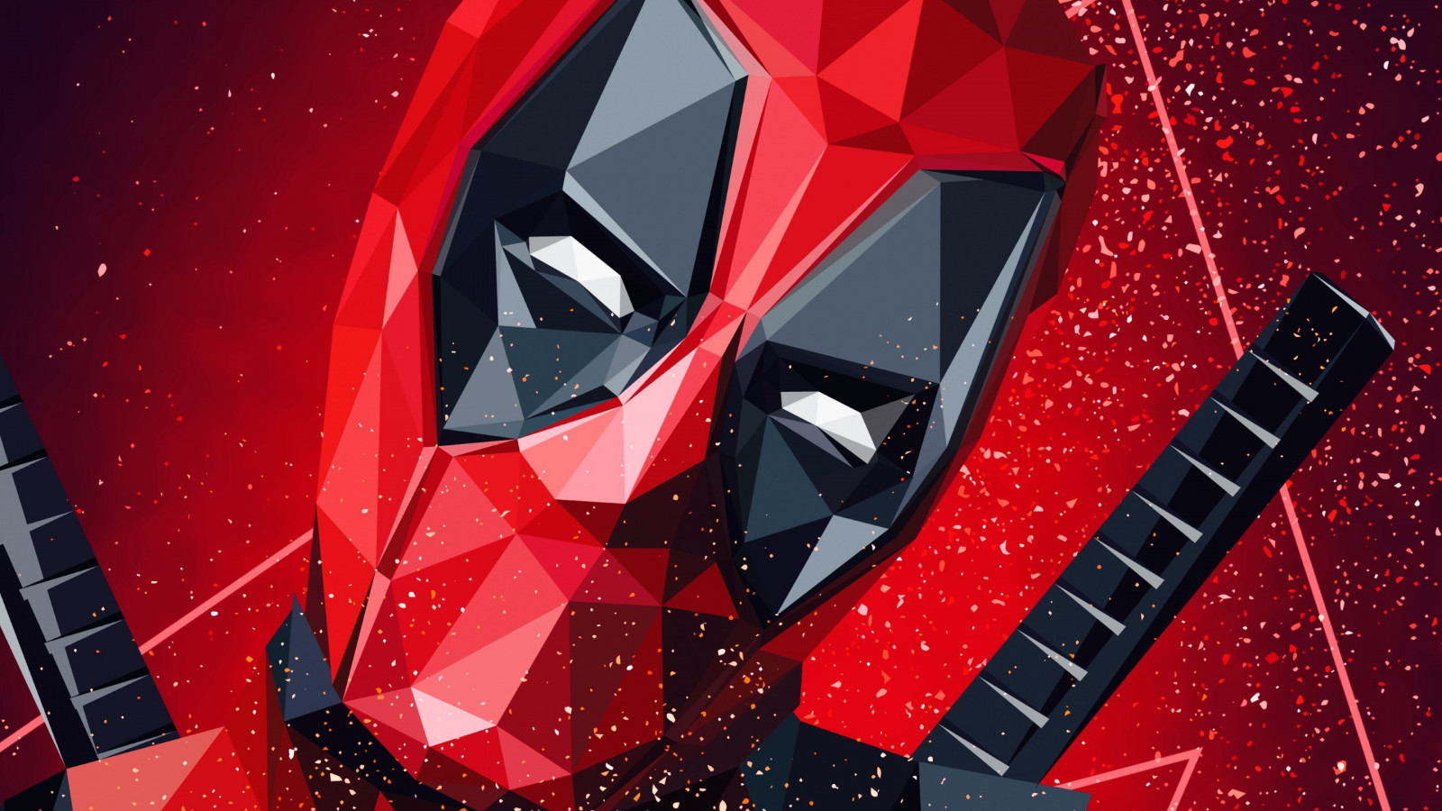 Deadpool digital art wallpaper 1600x900