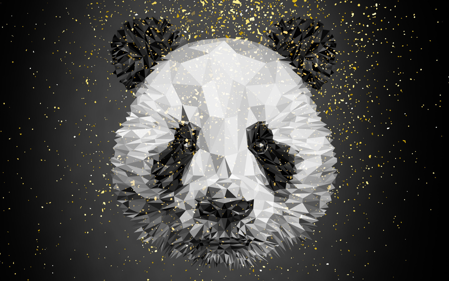 Panda bear illustration wallpaper 1440x900