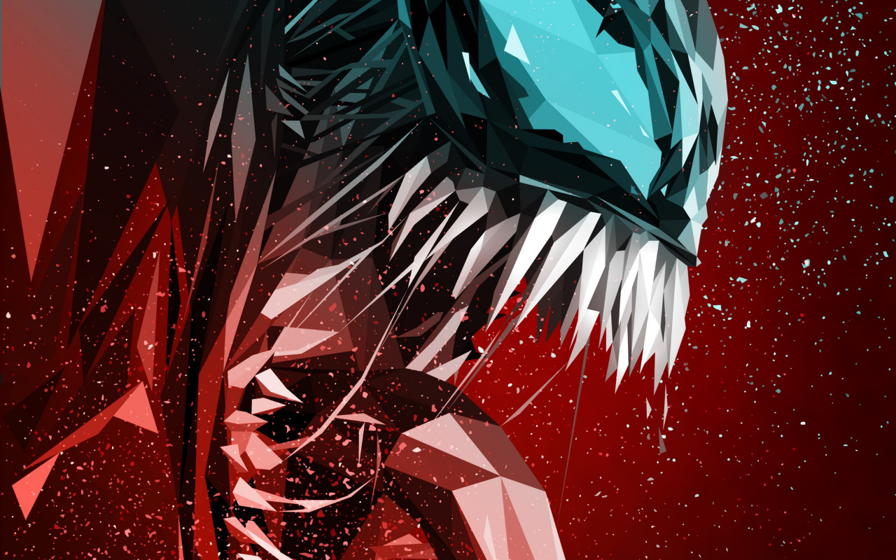 Venom digital art poster wallpaper 1280x800