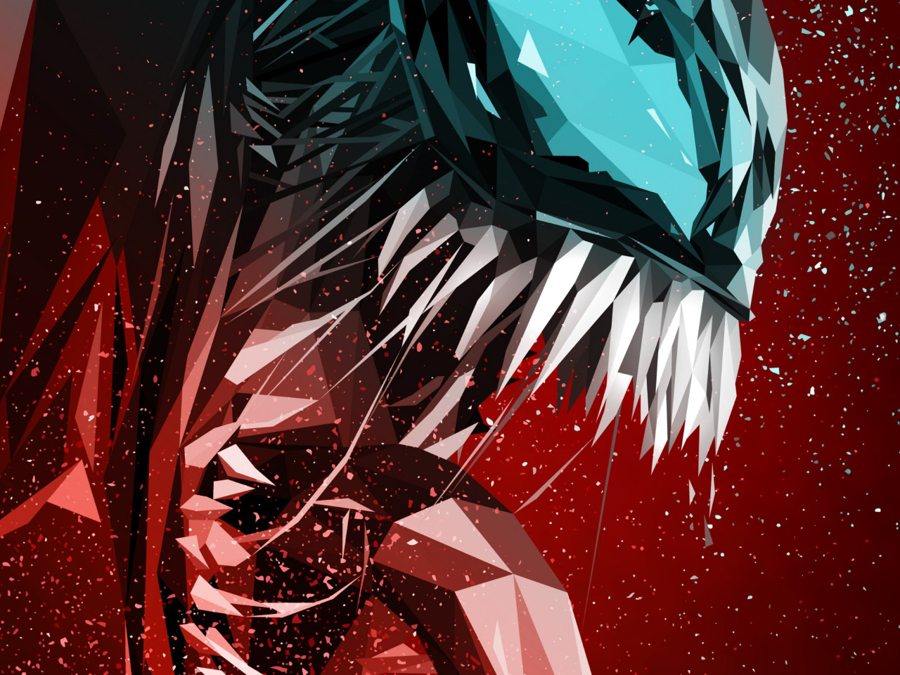 Venom digital art poster wallpaper 1280x960