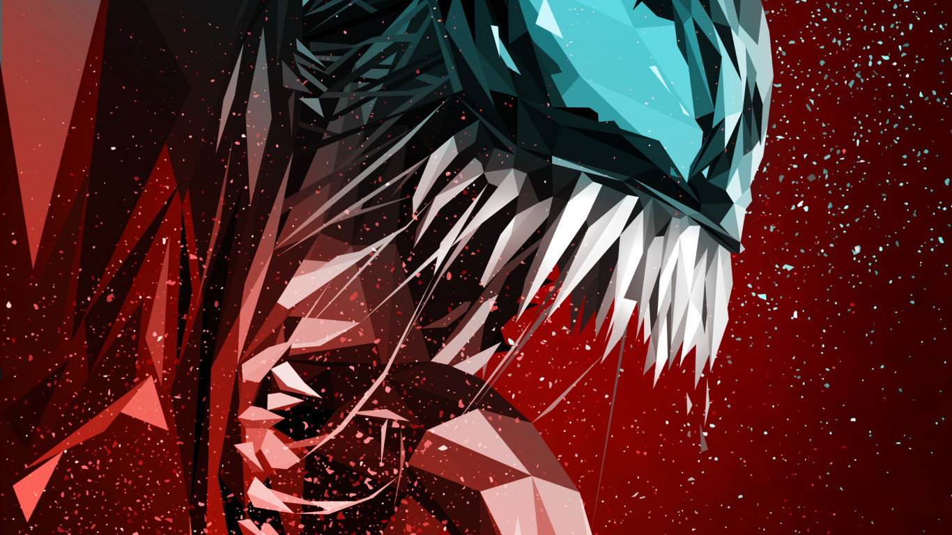 Download wallpaper: Venom digital art poster 1366x768