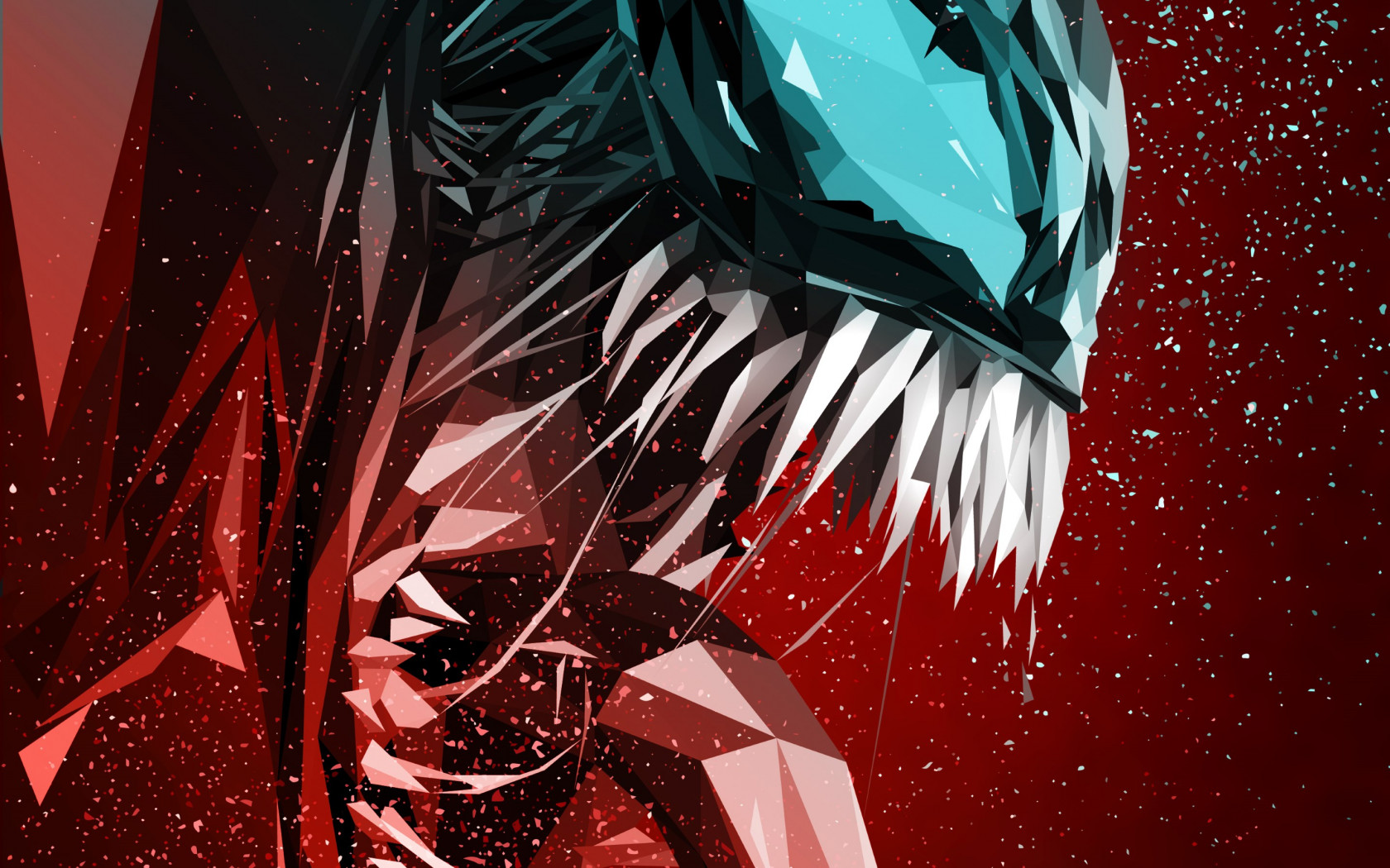 Venom digital art poster wallpaper 1680x1050