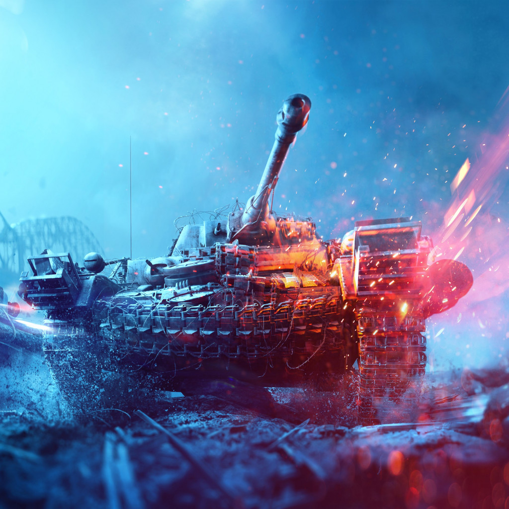Battlefield 5 poster with tanks wallpaper 1024x1024