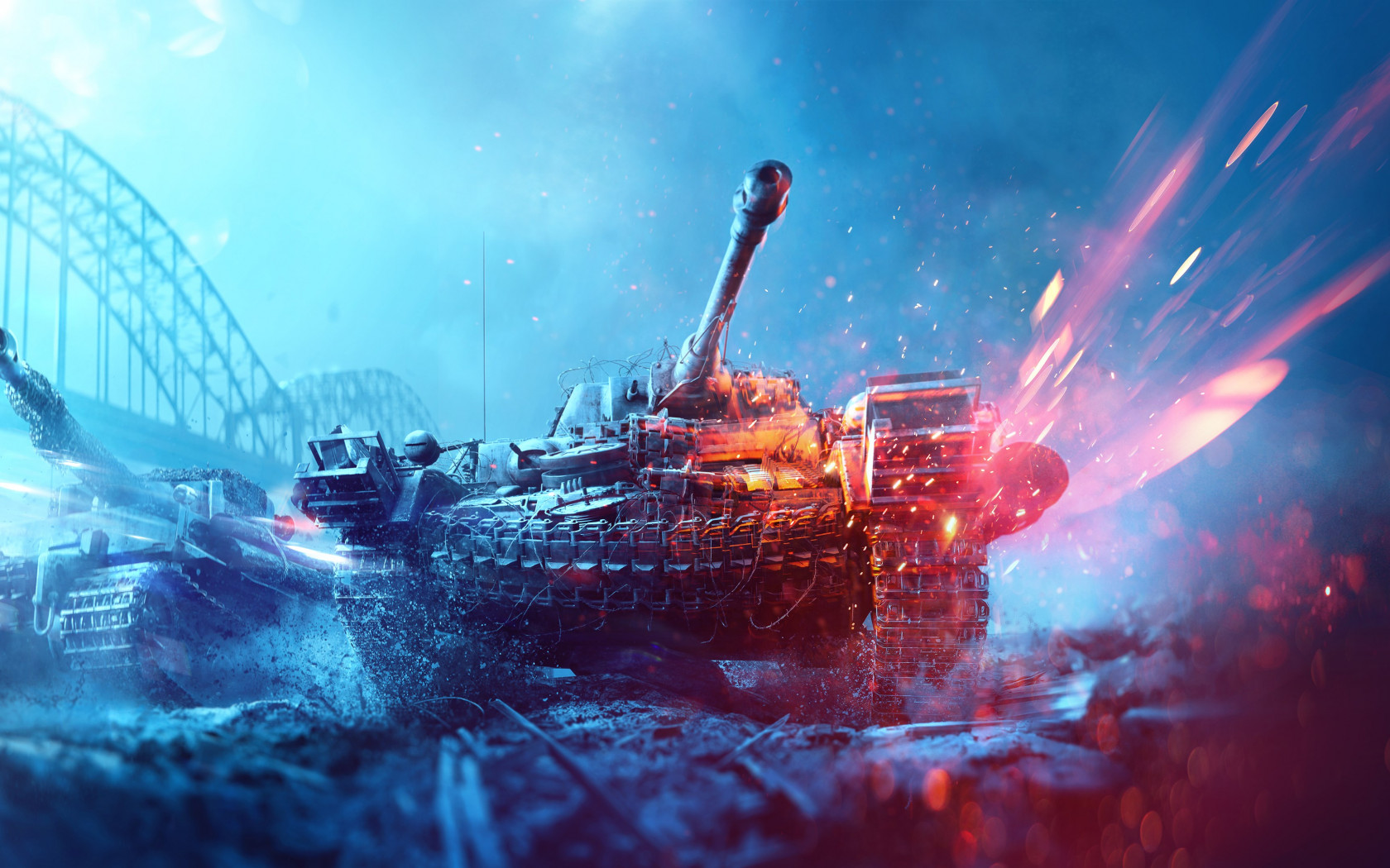 Battlefield 5 poster with tanks wallpaper 1680x1050