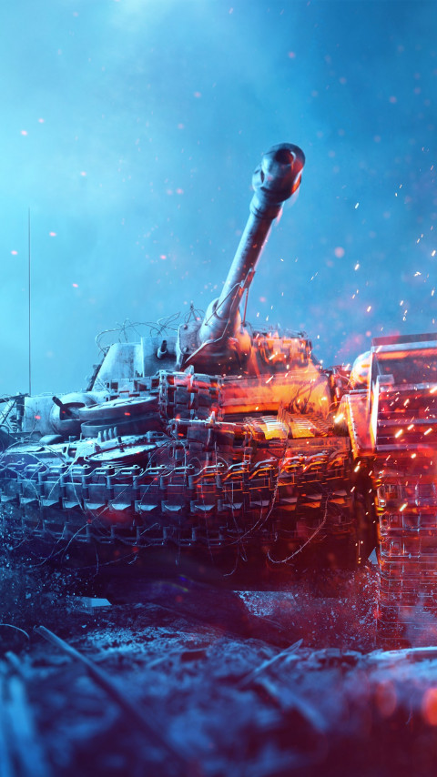 Battlefield 5 poster with tanks wallpaper 480x854