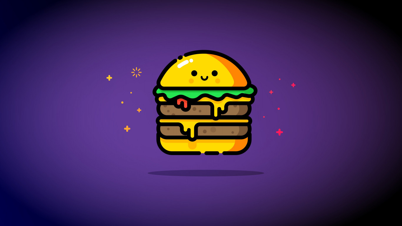 Double cheese wallpaper 1366x768