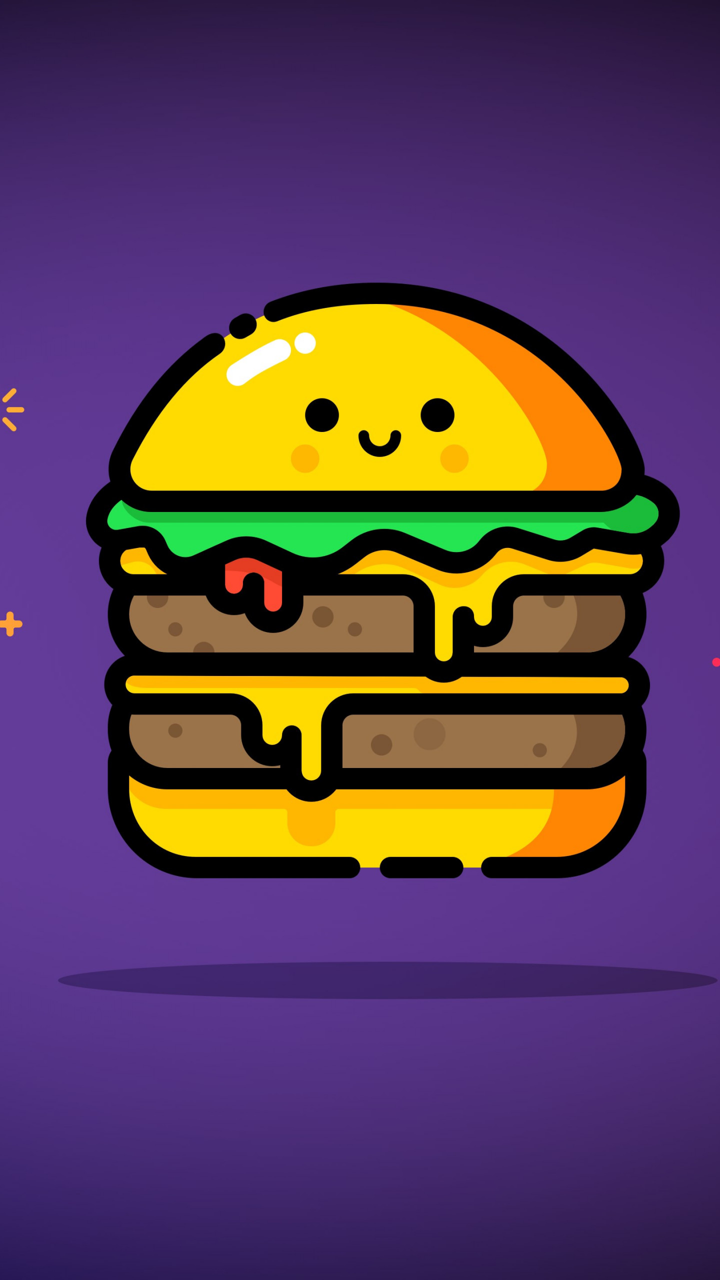 Double cheese wallpaper 1440x2560