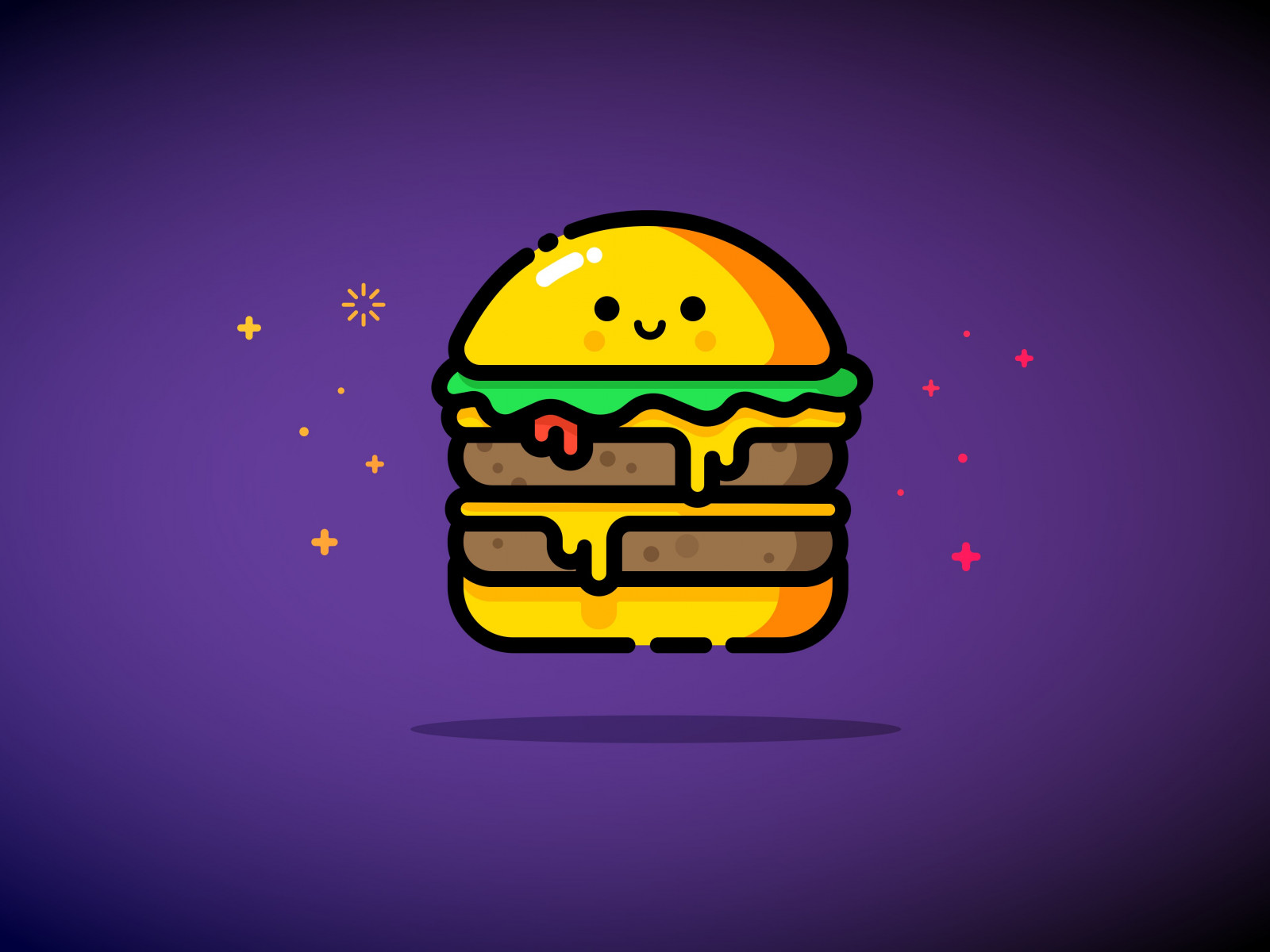 Double cheese wallpaper 1600x1200