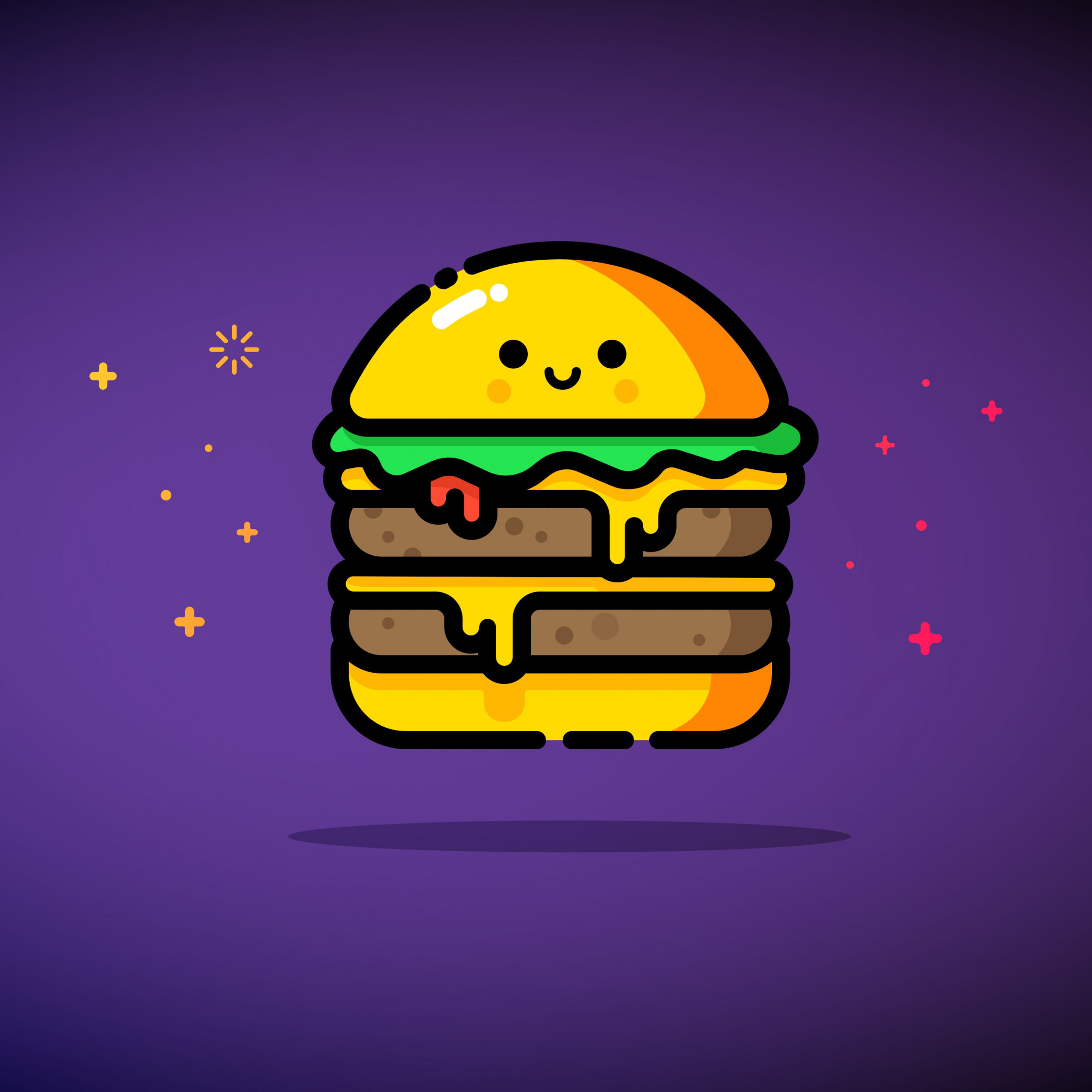 Double cheese wallpaper 2224x2224