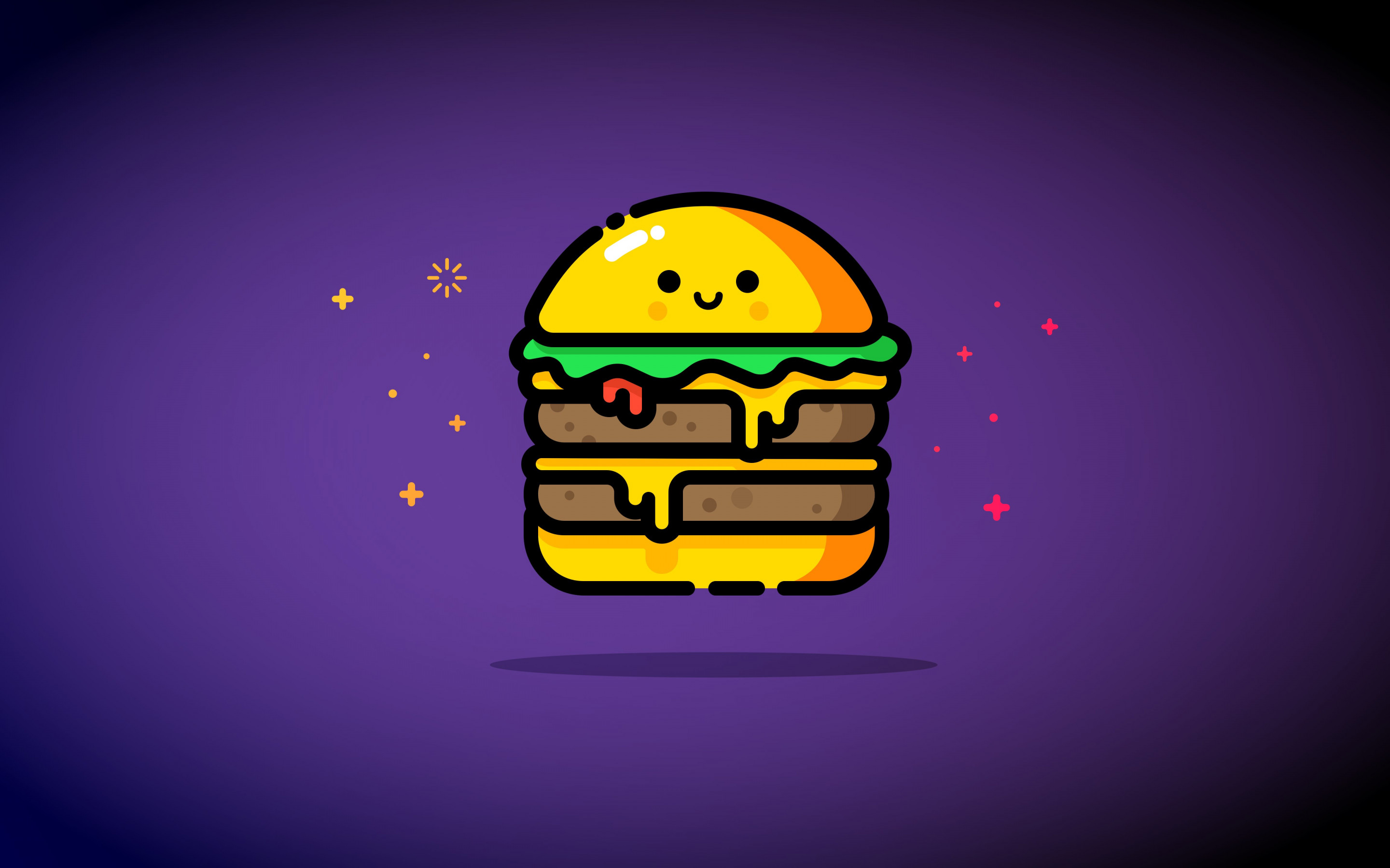 Double cheese wallpaper 2880x1800