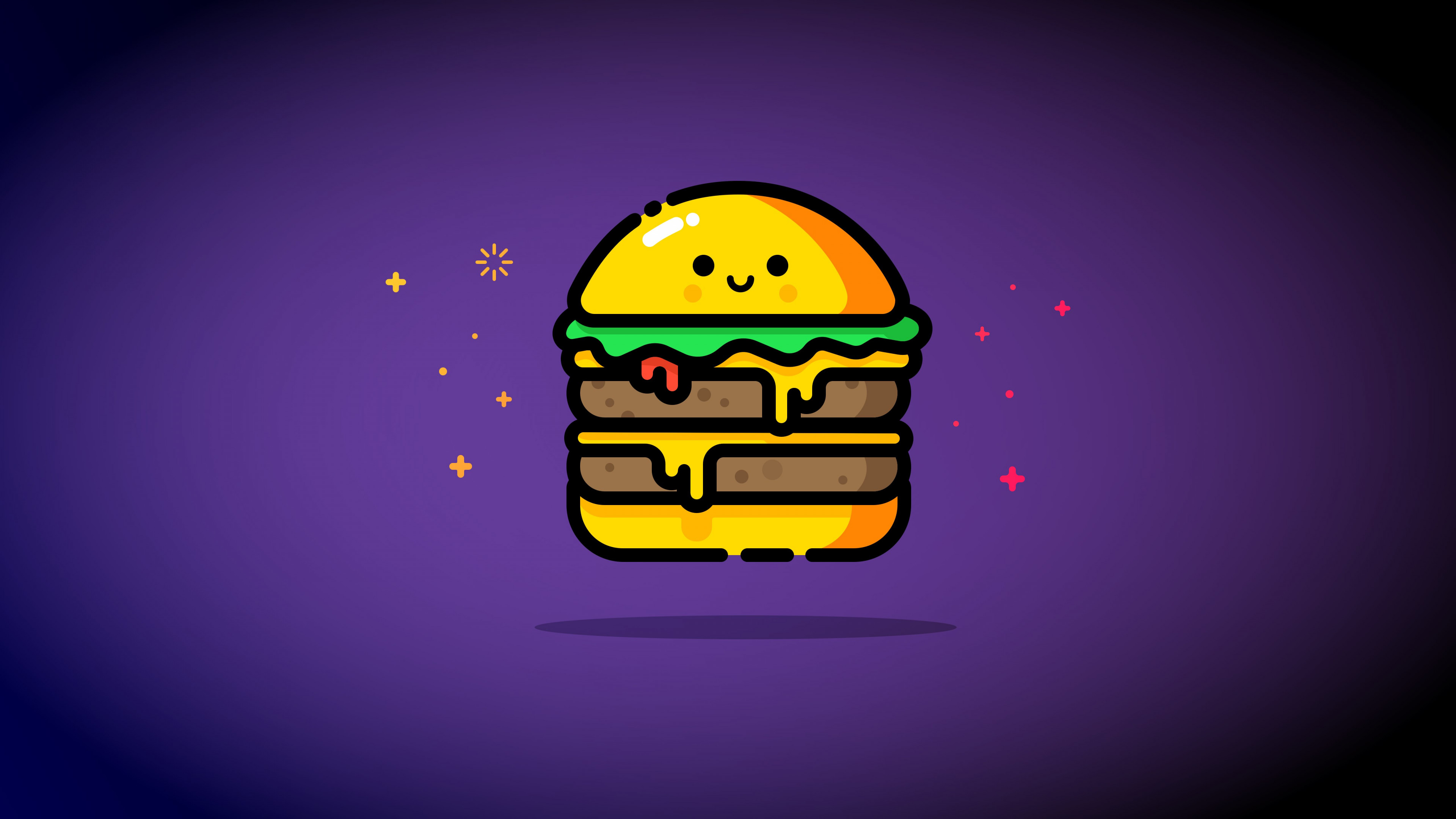 Double cheese wallpaper 3840x2160