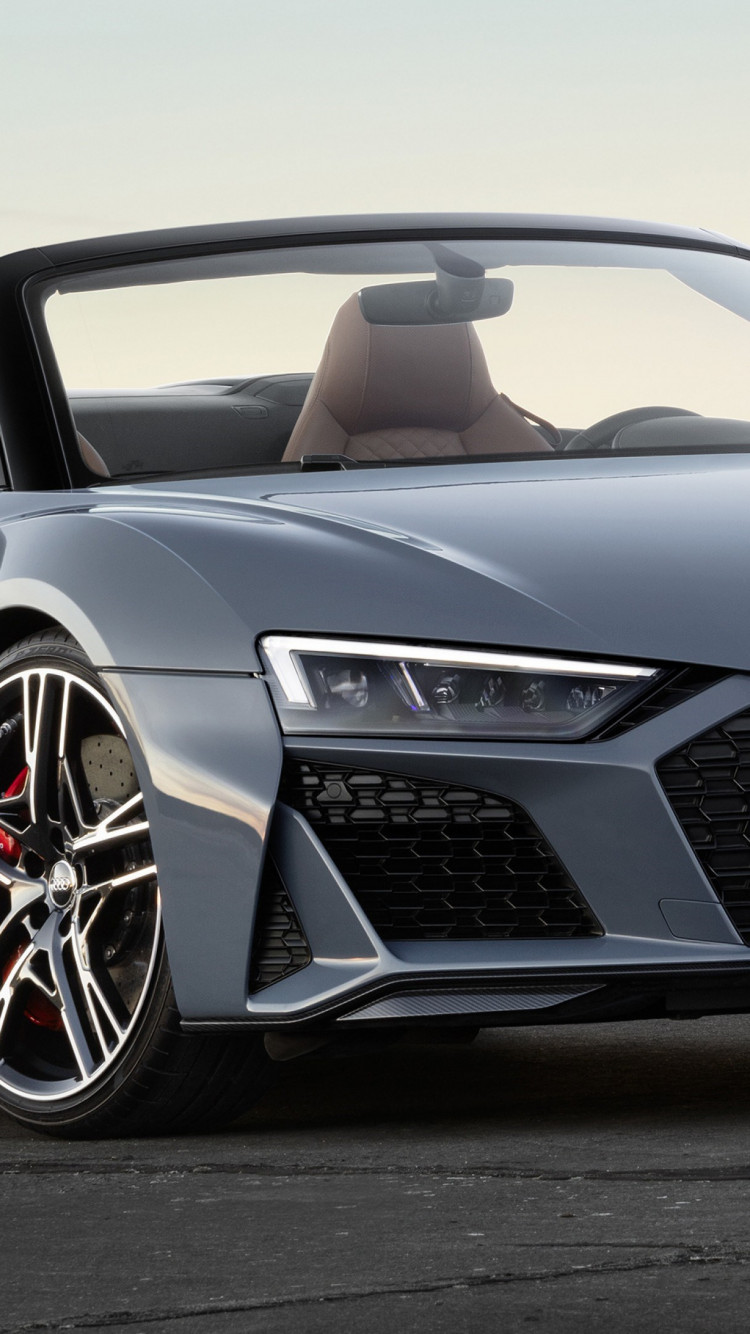 Audi R8 V10 Spyder wallpaper 750x1334