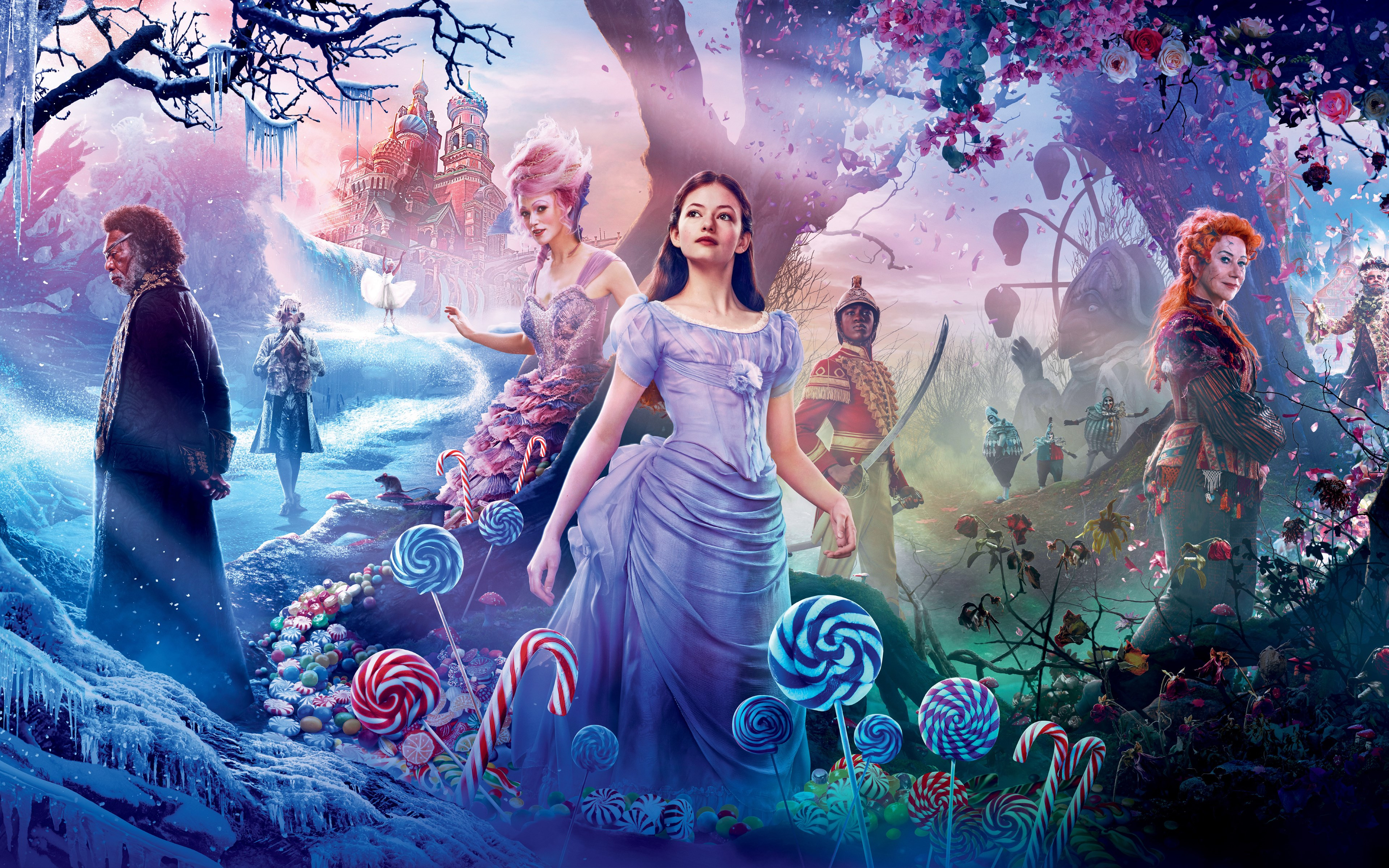 The Nutcracker and the Four Realms poster wallpaper 3840x2400