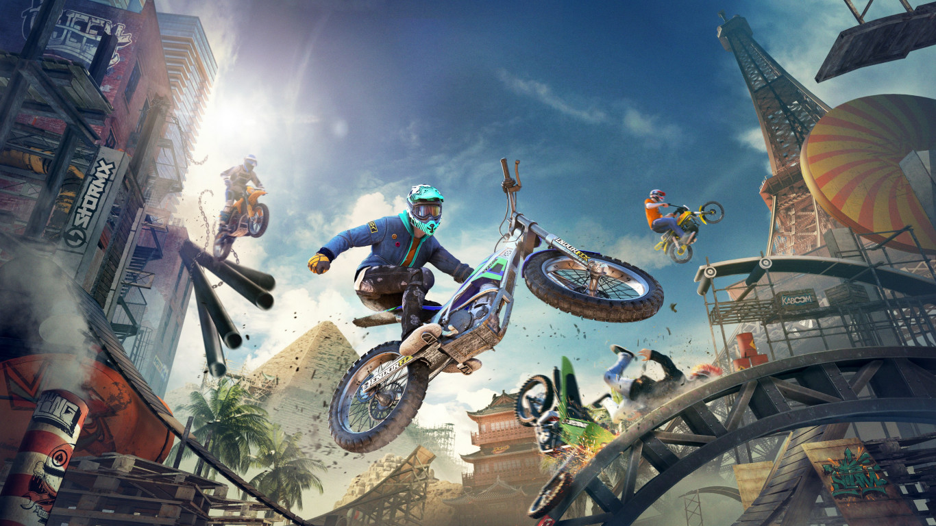 Trials Rising wallpaper 1366x768
