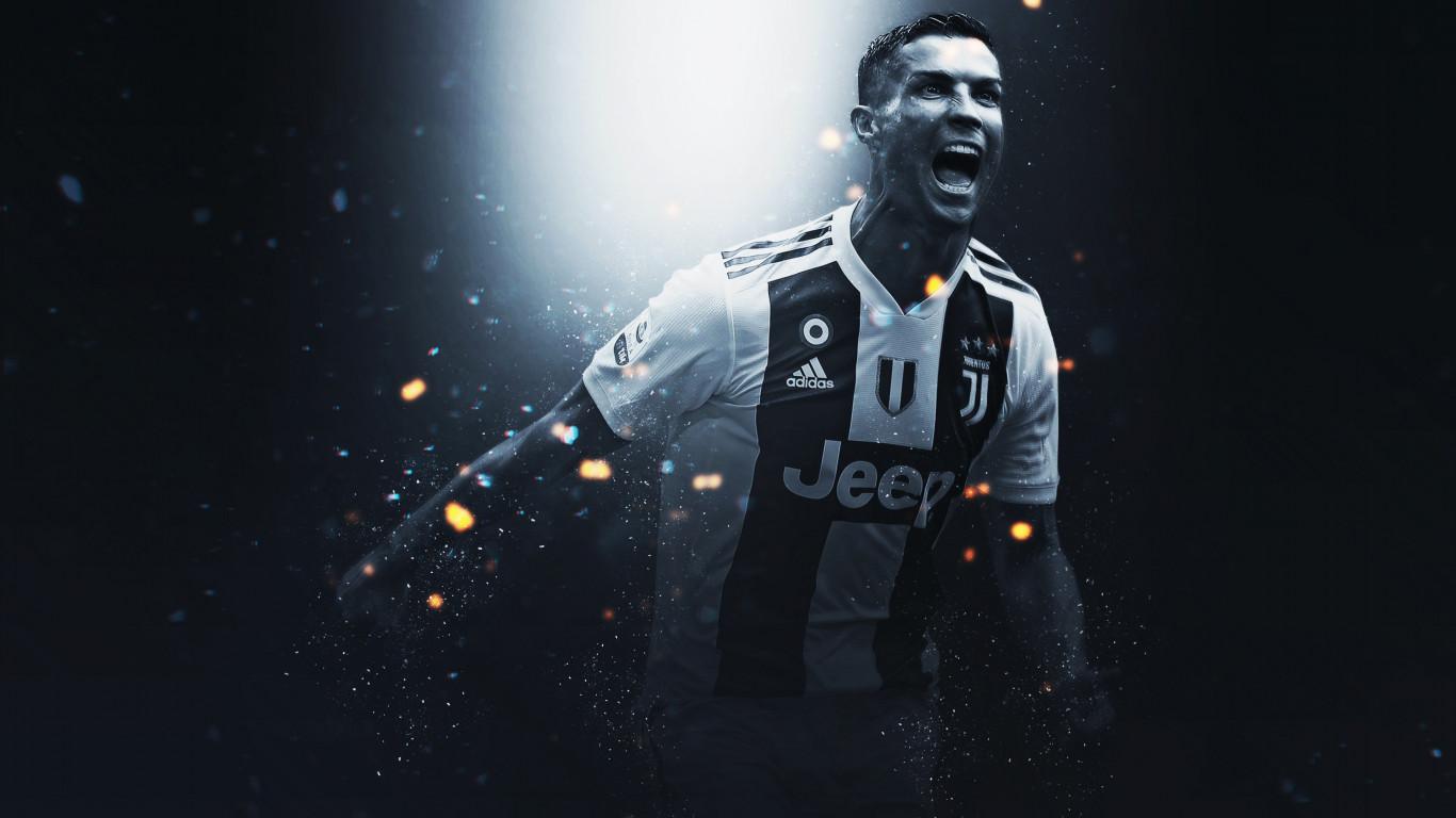 19af30829aa Download wallpaper  Cristiano Ronaldo at Juventus 1366x768