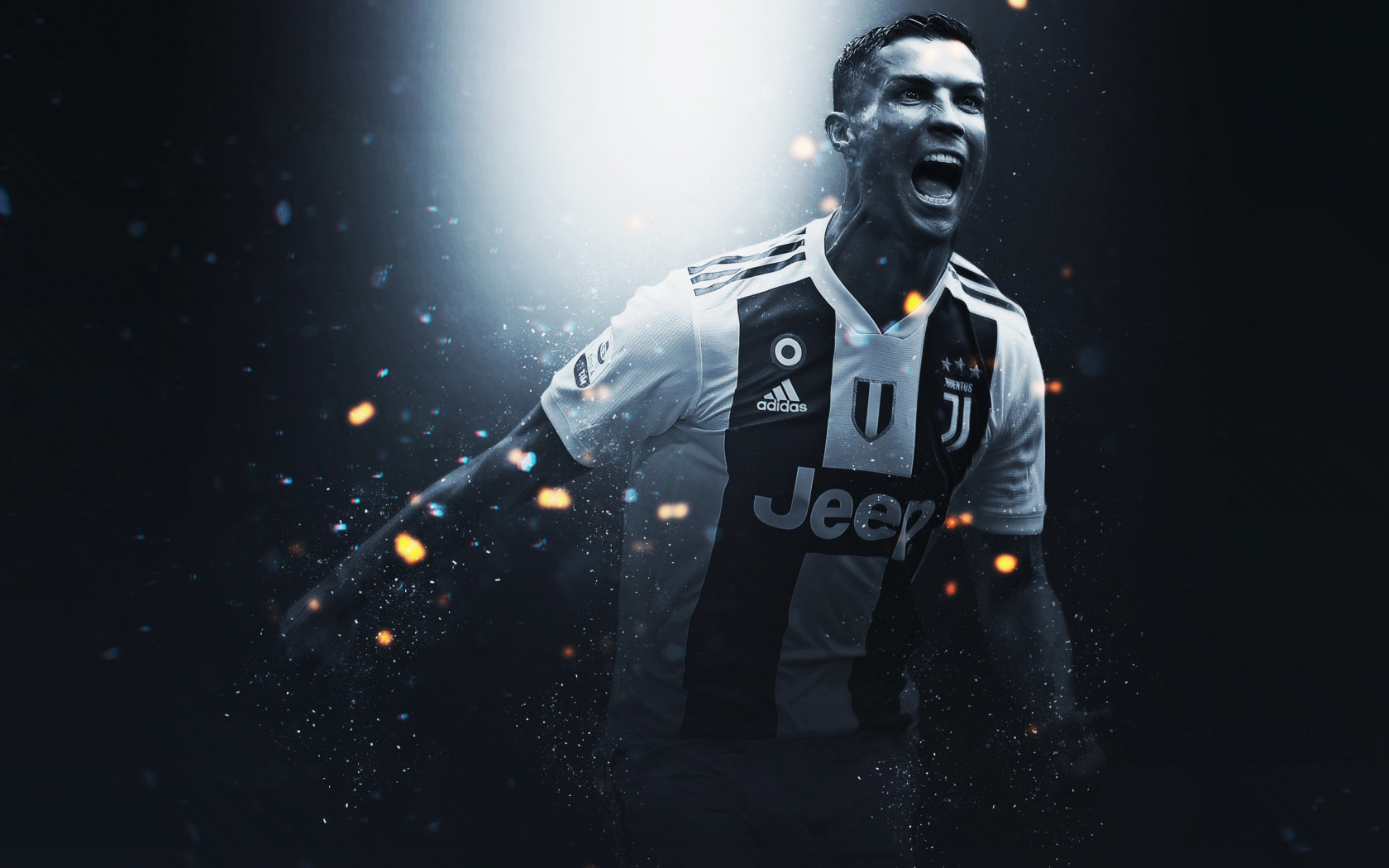 Cristiano Ronaldo at Juventus wallpaper 1680x1050