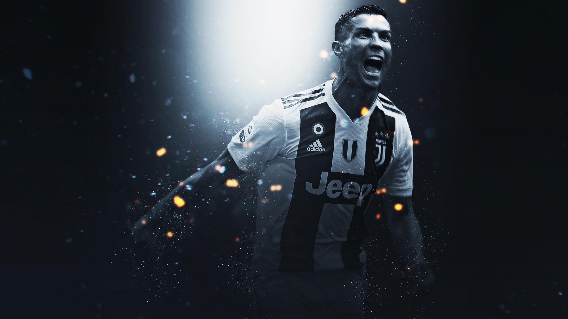 Cristiano Ronaldo at Juventus wallpaper 1920x1080