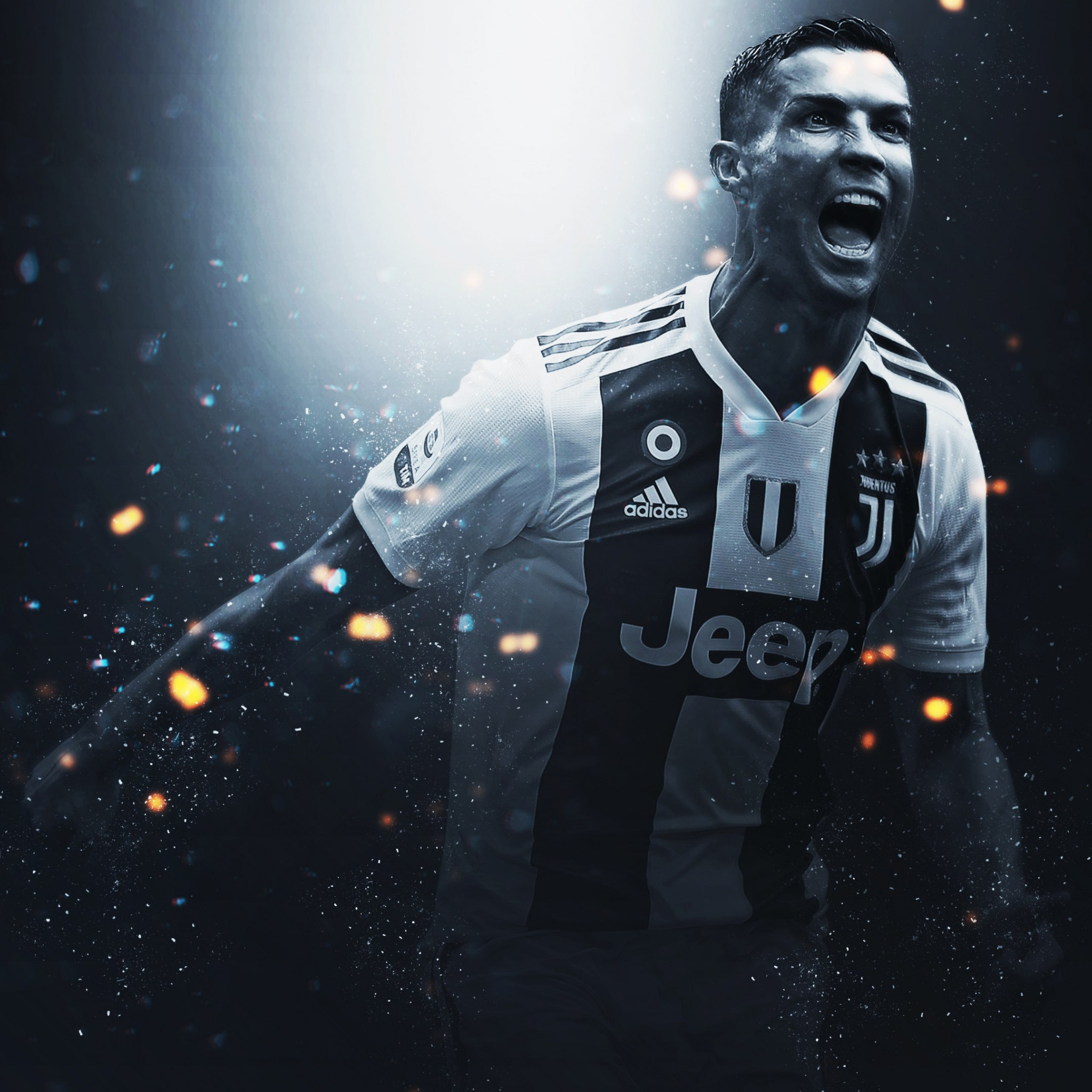 Cristiano Ronaldo at Juventus wallpaper 2048x2048