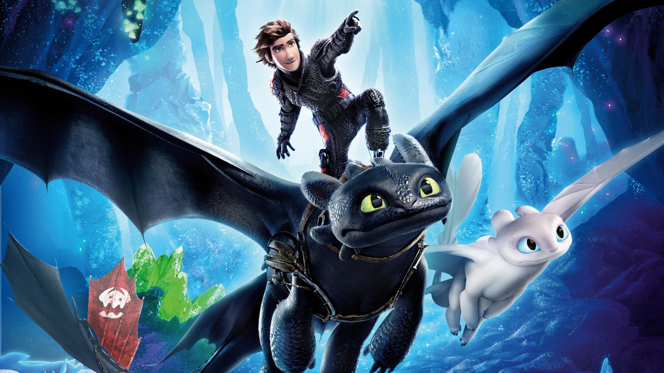 How to Train Your Dragon 2019 wallpaper 1366x768