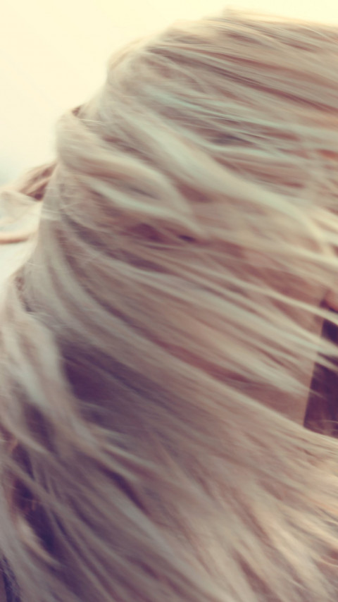 The girl with blonde hair wallpaper 480x854