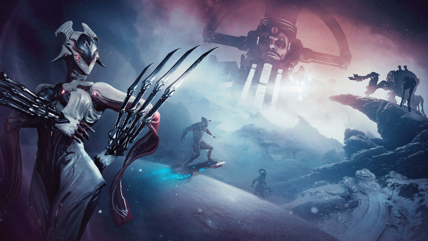Download Wallpaper Fortuna Expensasion For Warframe Game 1366x768