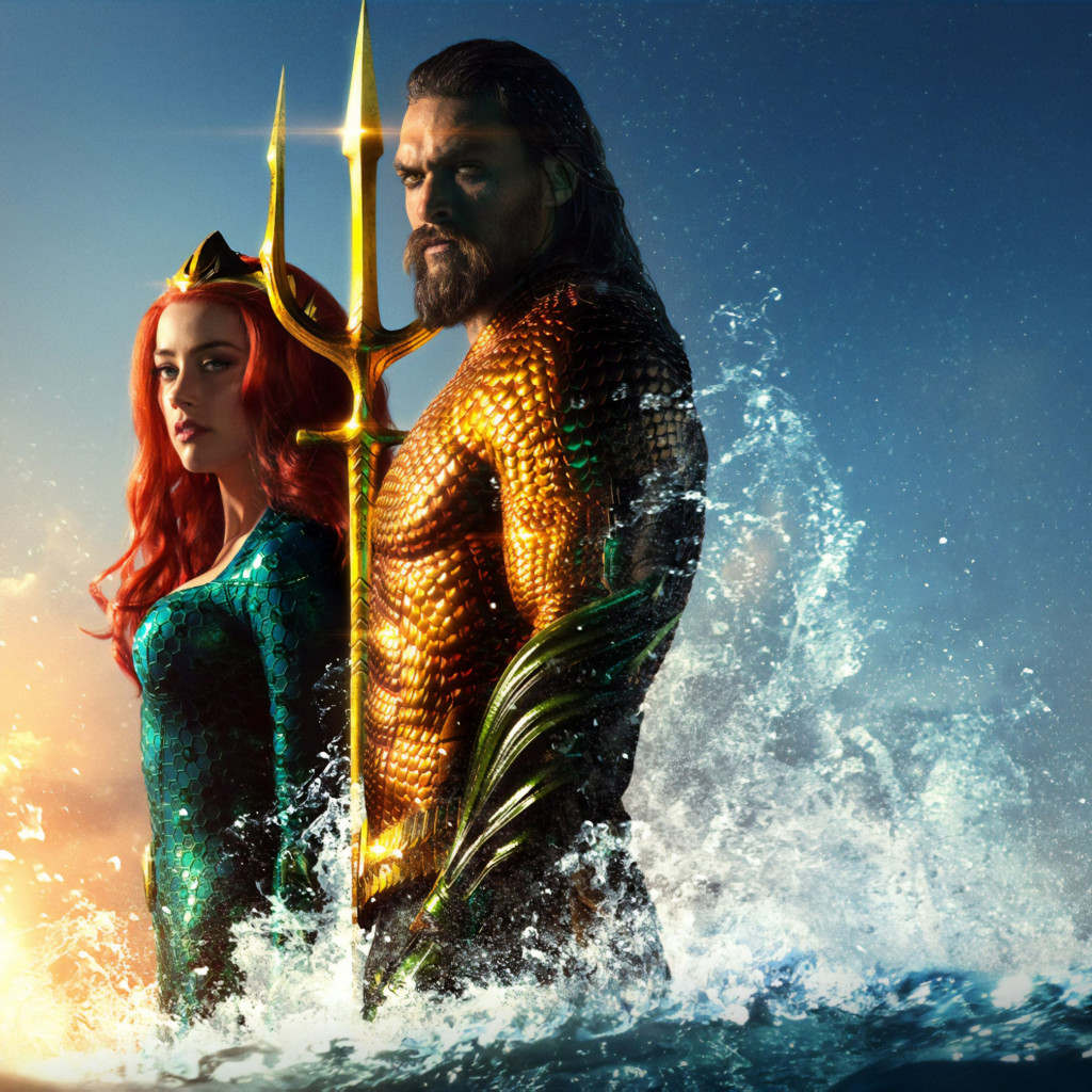 Aquaman new poster wallpaper 1024x1024
