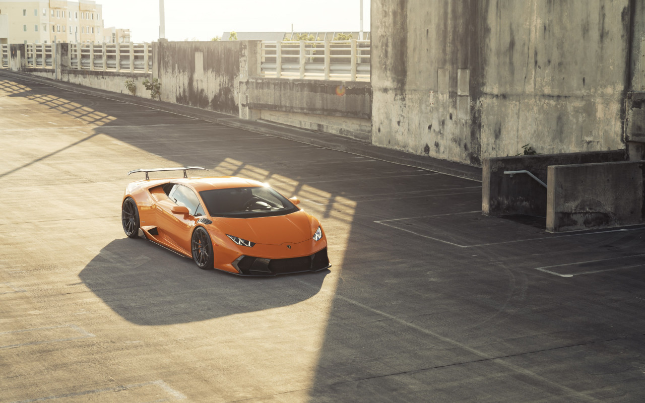 ANRKY Fish Orange Lambo Huracan wallpaper 1280x800