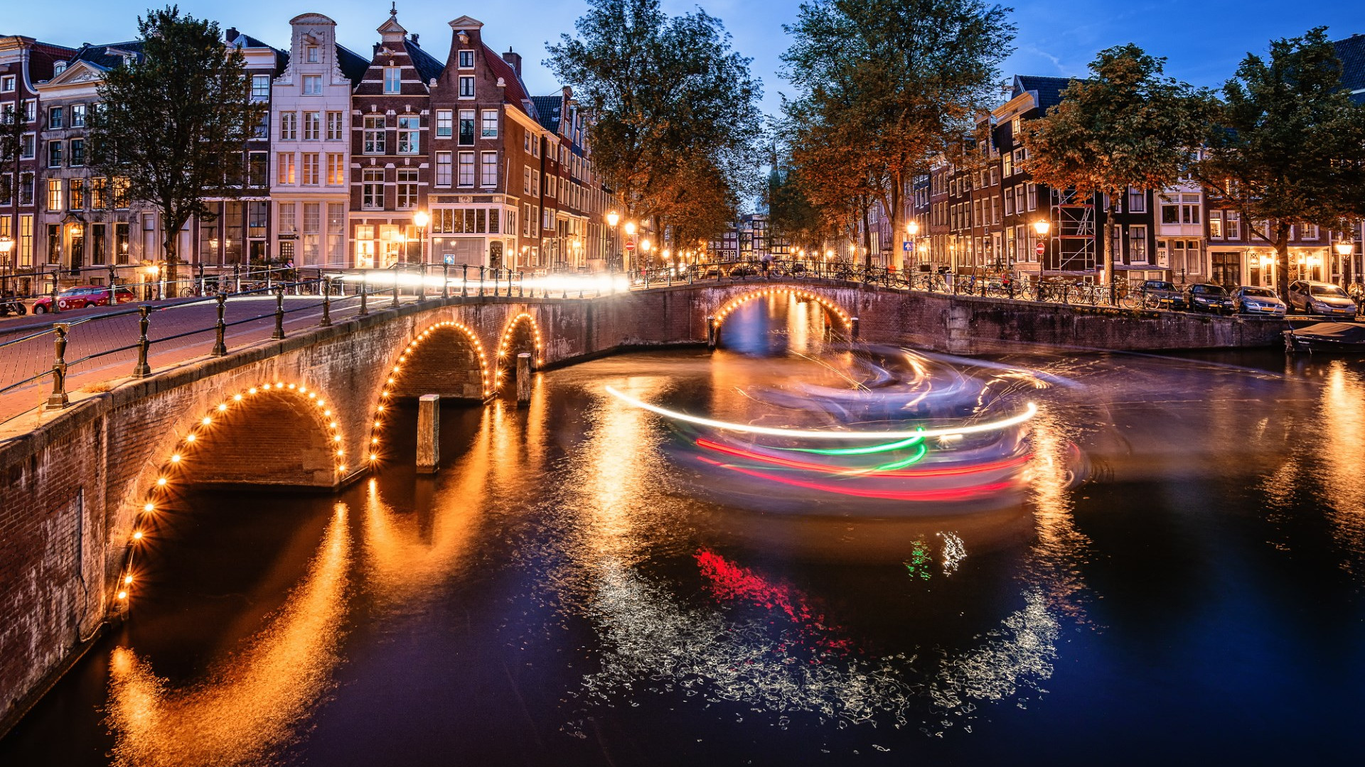 Terms Of Use >> Download wallpaper: Amsterdam by night 1920x1080