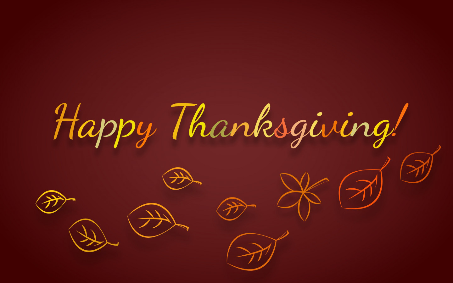 Happy Thanksgiving wallpaper 1440x900