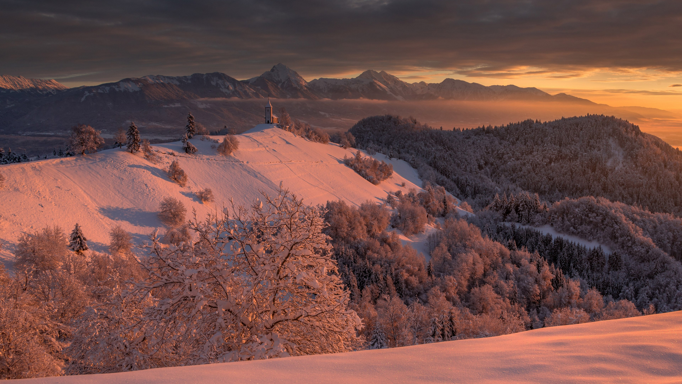 Best Winter sunrise wallpaper 2880x1620