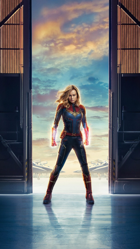 Captain Marvel | 480x854 wallpaper