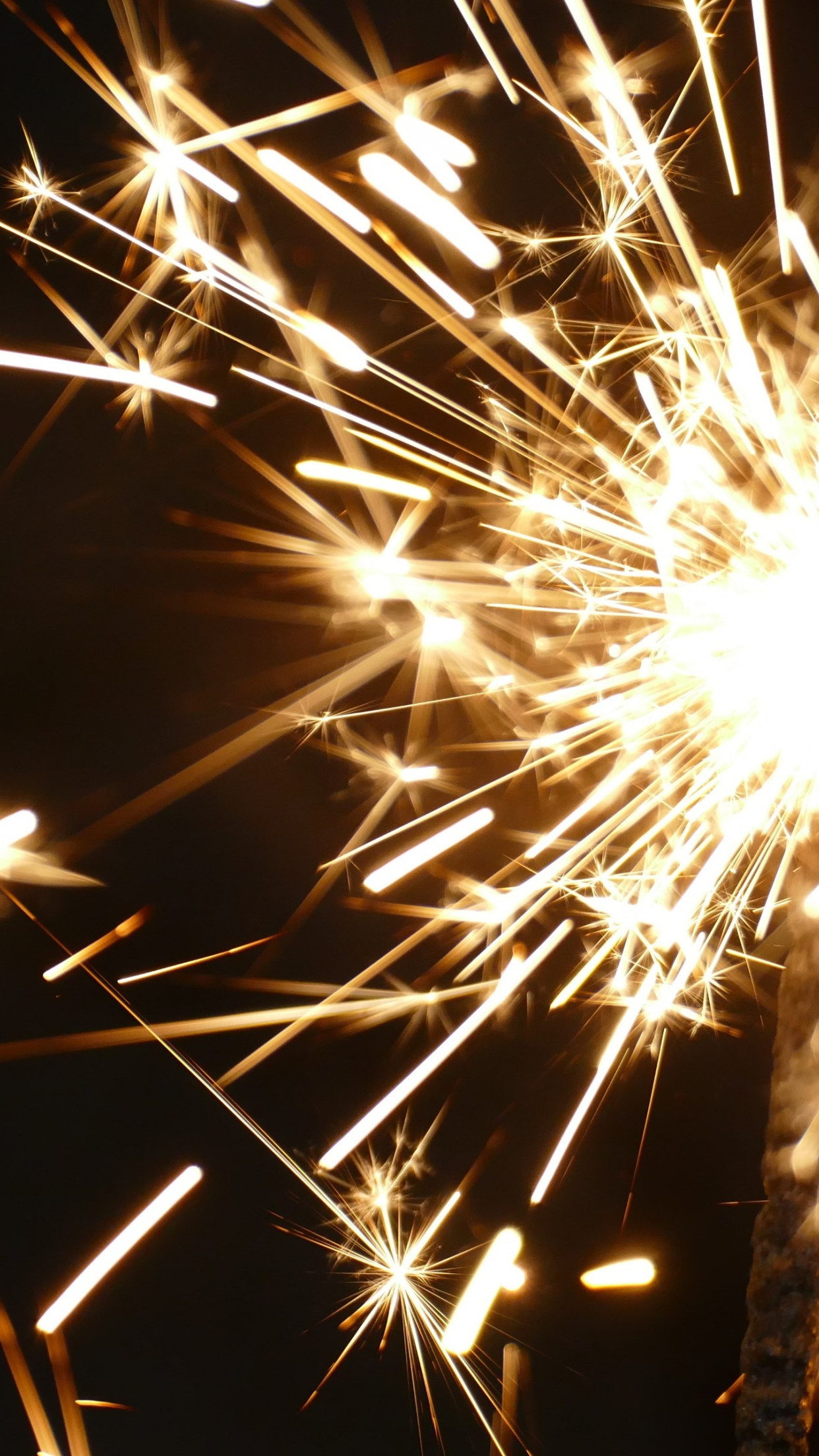 Sparklers for new year wallpaper 1242x2208