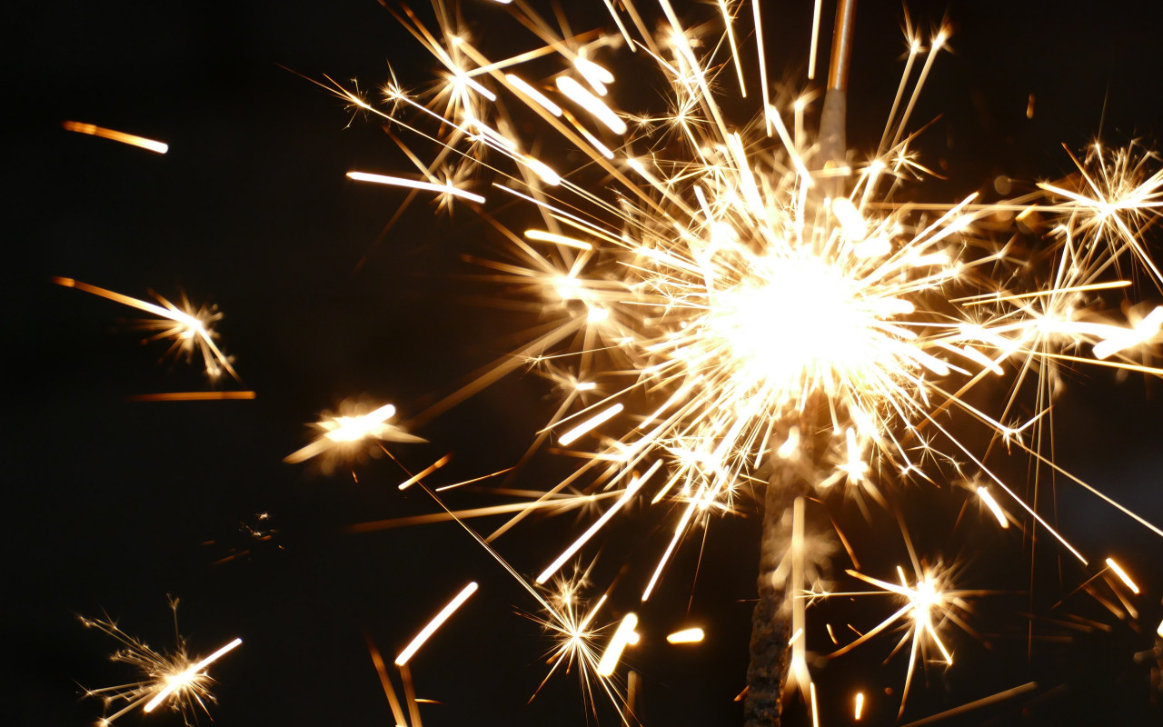 Sparklers for new year wallpaper 1280x800