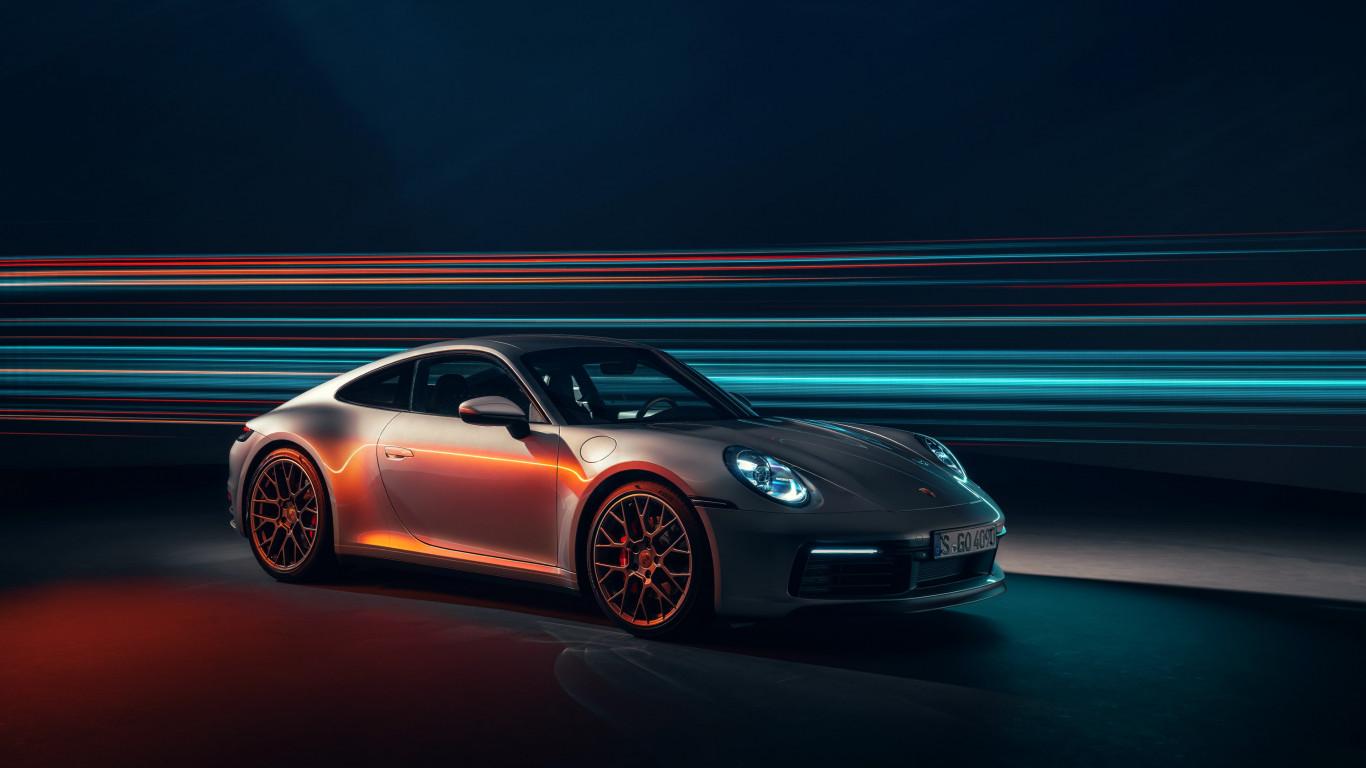Download Wallpaper Porsche 911 Carrera 4s 1366x768