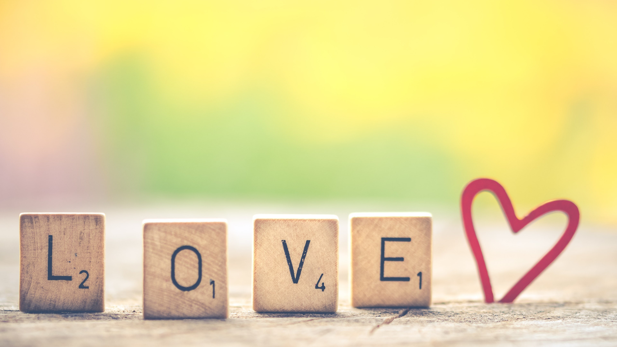 Love letters. Message for Valentine s day wallpaper 2560x1440