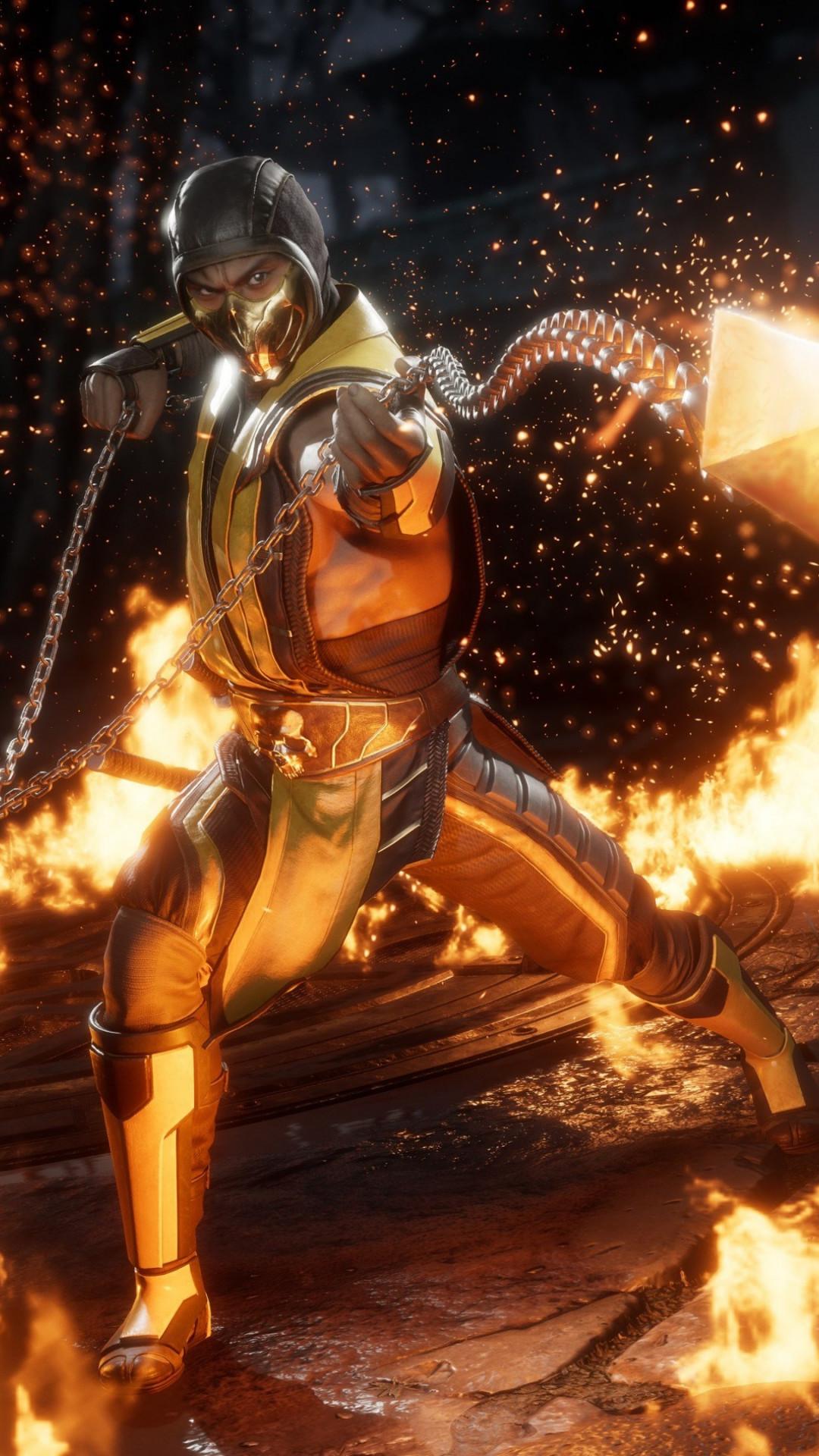 Download Wallpaper Mortal Kombat 11 Scorpion 1080x1920